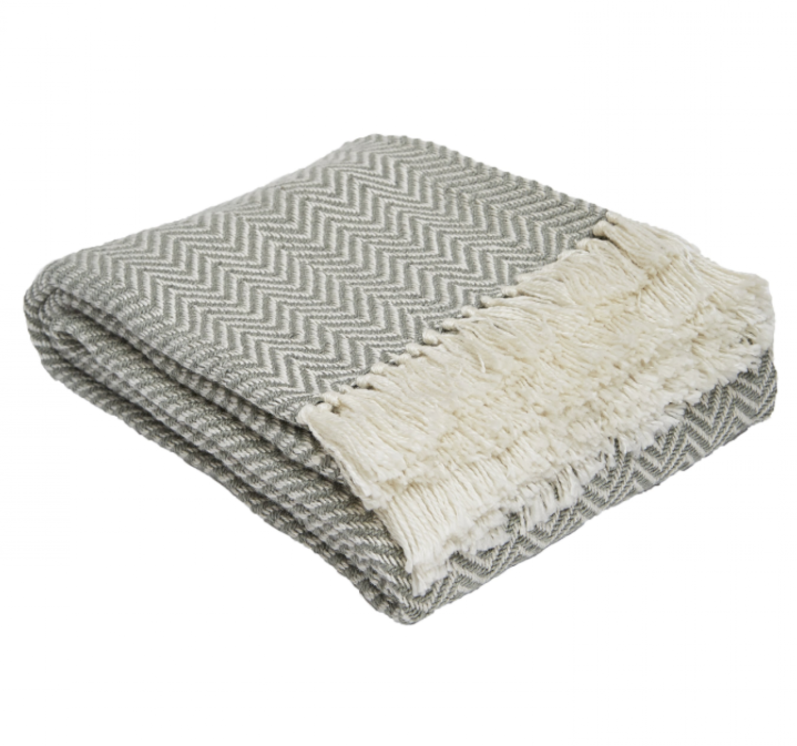 Grey Herringbone Blanket From Recycled Bottles