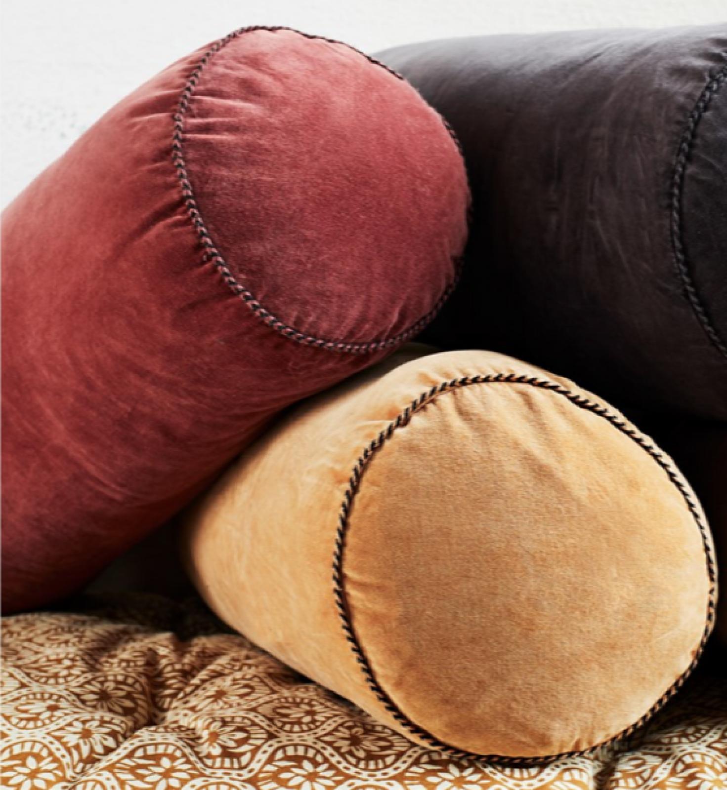 Rosewood Velvet  Bolster Cushion thumbnails
