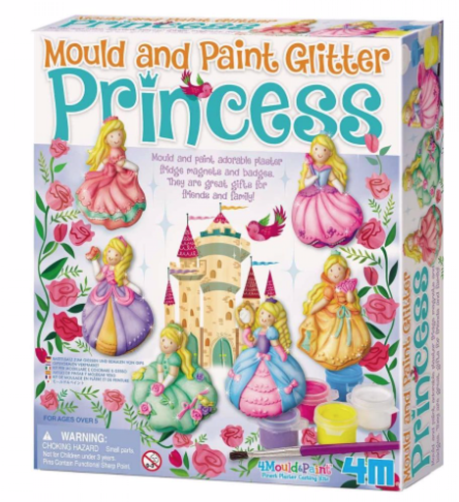 Mould & Paint Glitter Princess Art Kit 5+