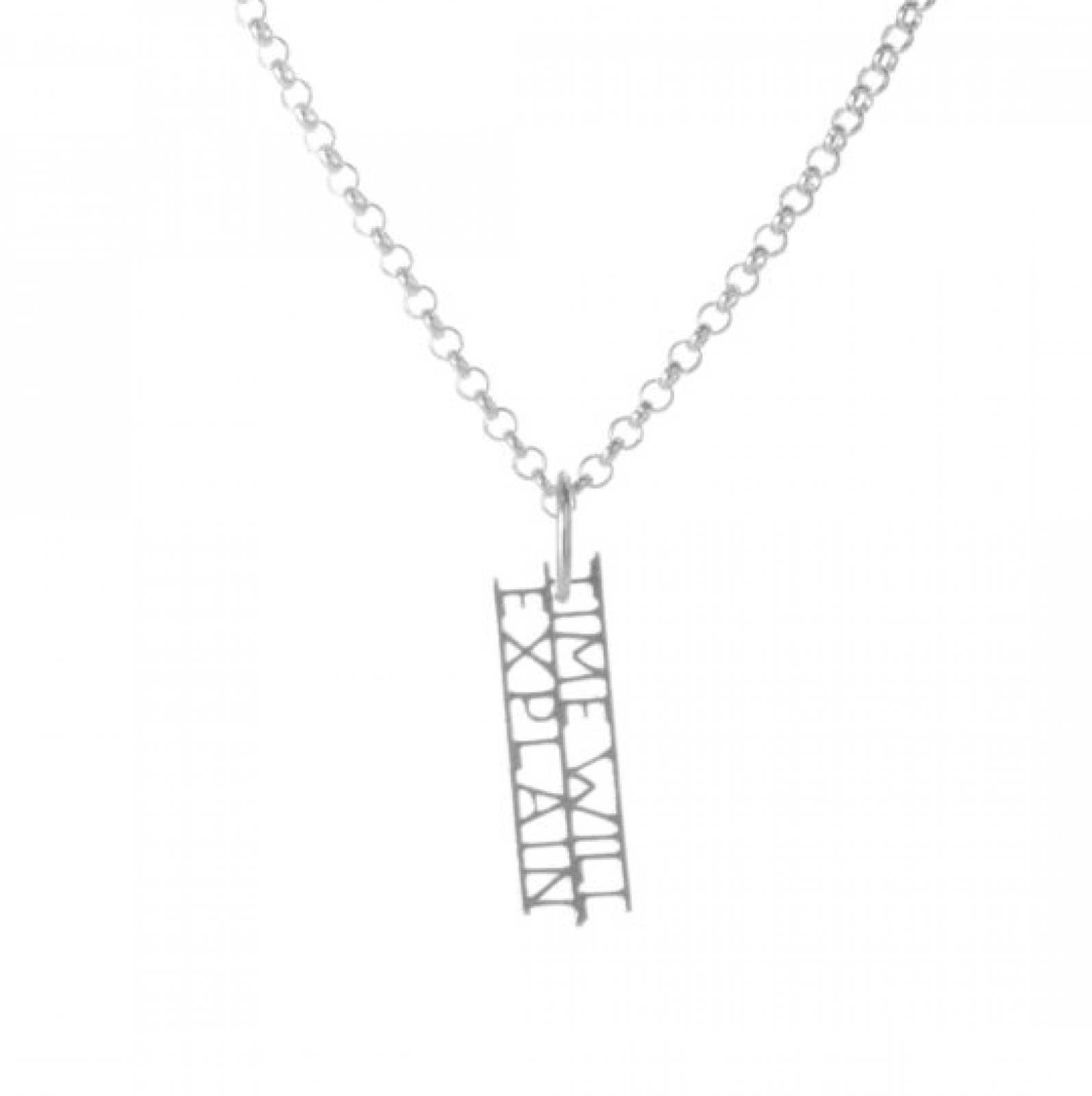 Jane Austen - Explain Silver Quote Necklace By Ordbord
