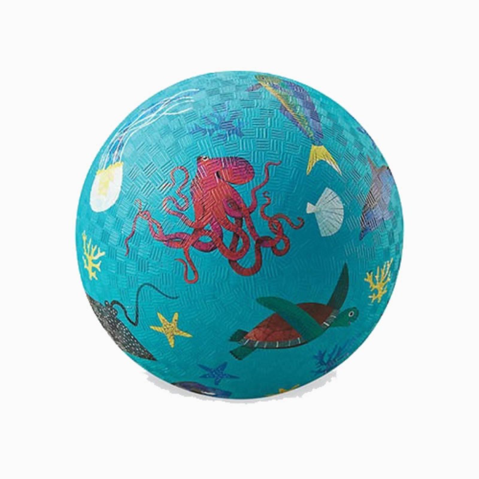 Sea Animals - Small Rubber Picture Ball 13cm
