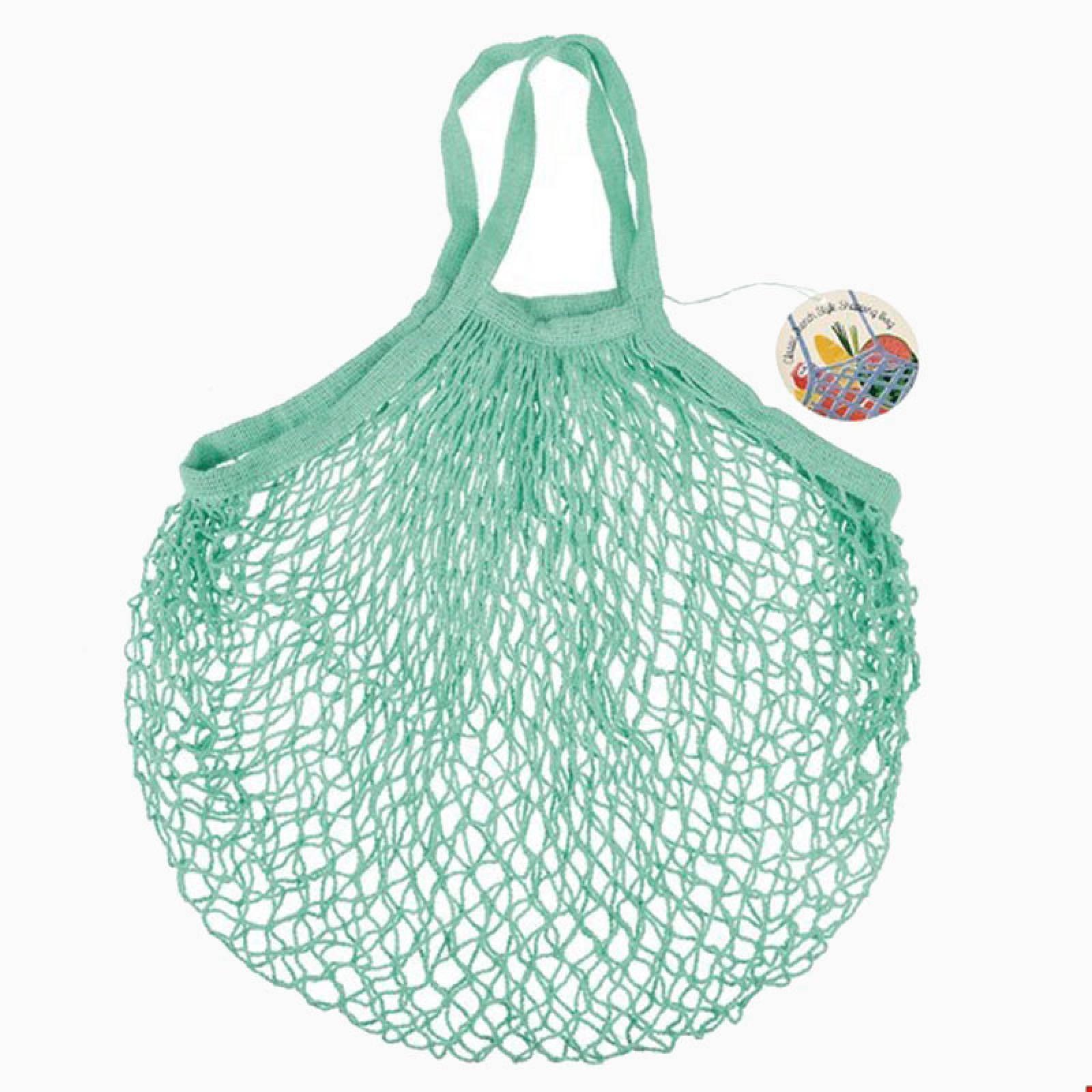 Sea Green String Shopping Bag