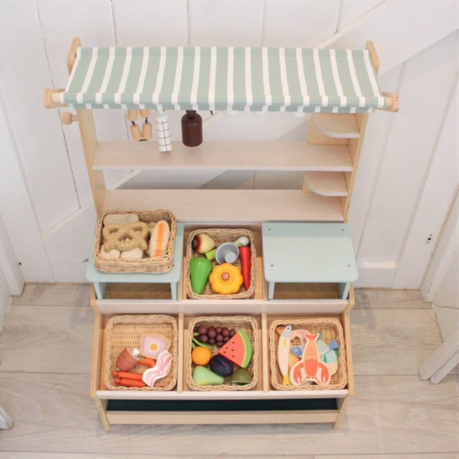 Seafood Basket Wooden Play Food Set 3+ thumbnails