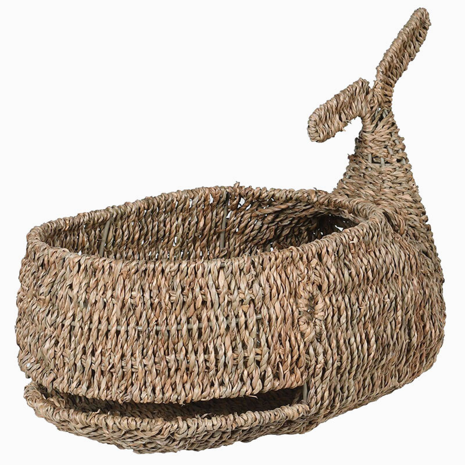 Seagrass Whale Shaped Basket
