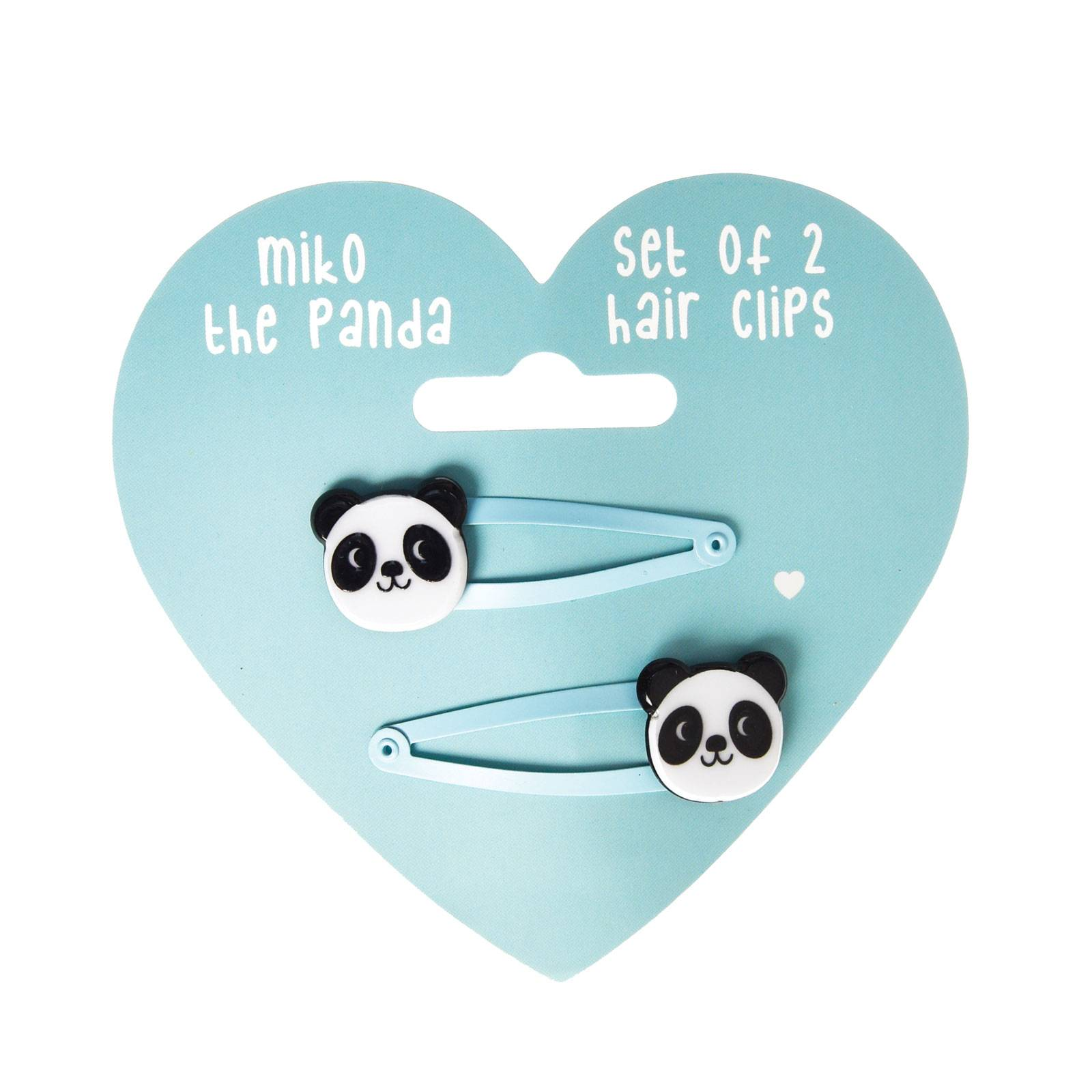Set Of 2 Panda Hairclips