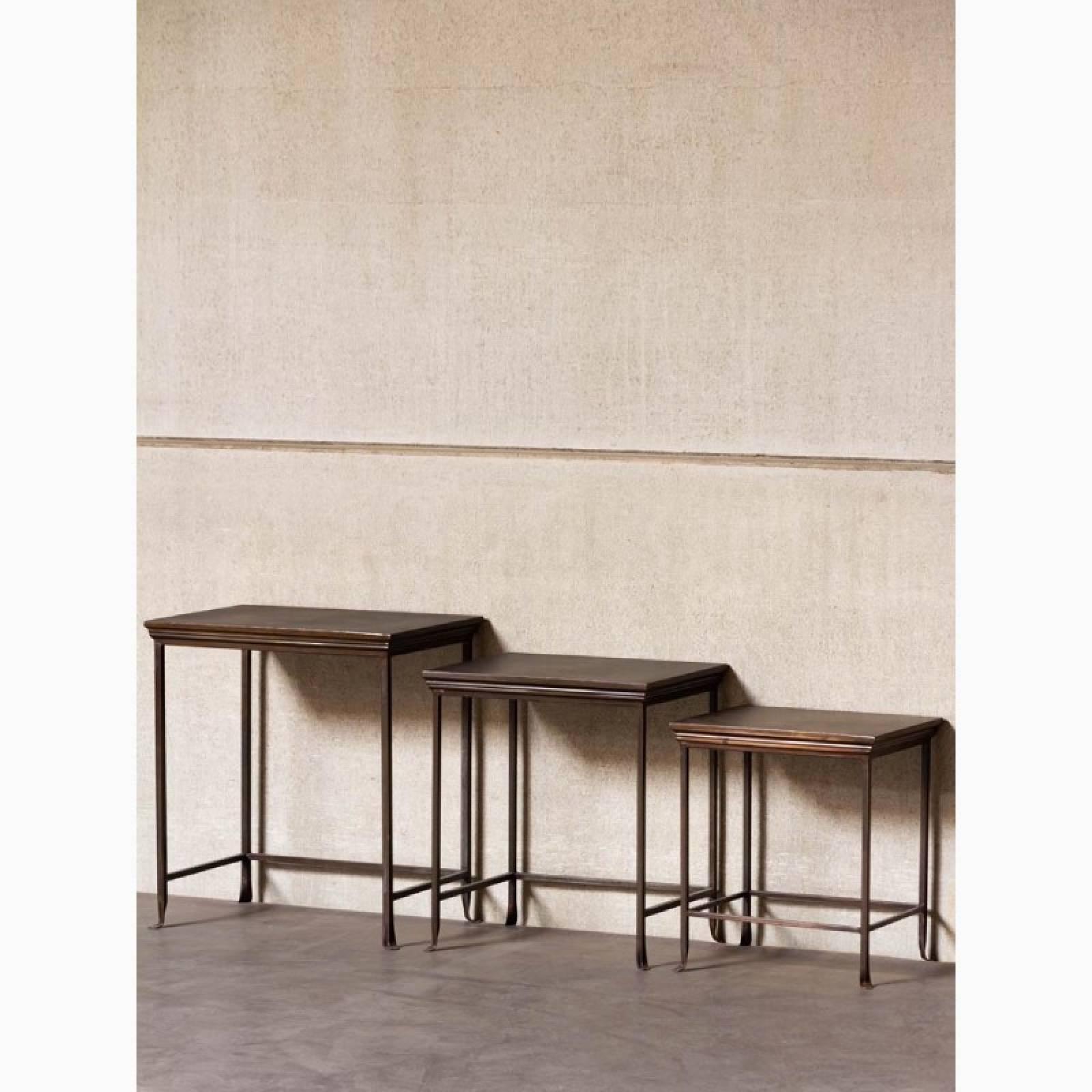 Set Of 3 Metal Nesting Side Tables thumbnails