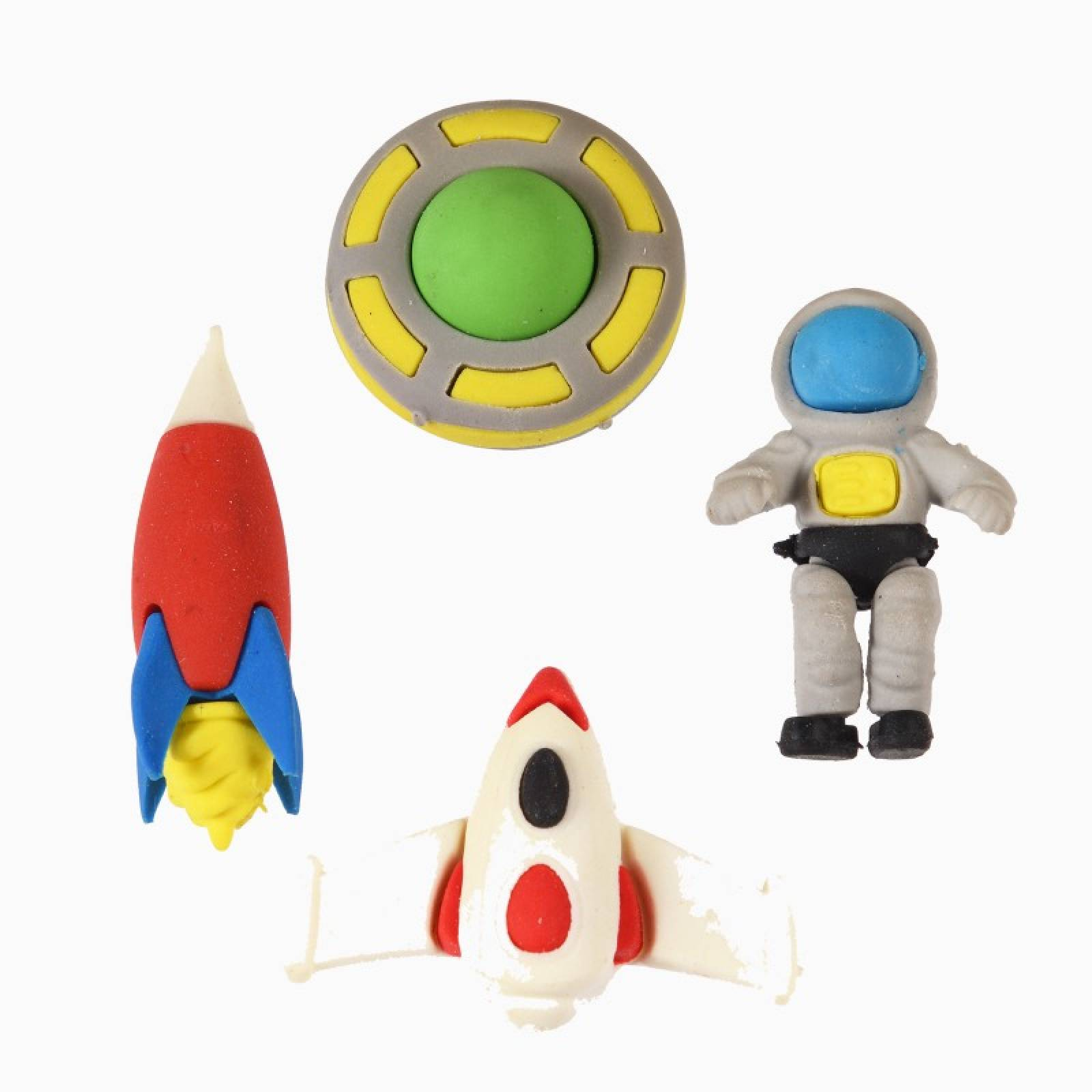 Set Of 4 Space Age Erasers thumbnails