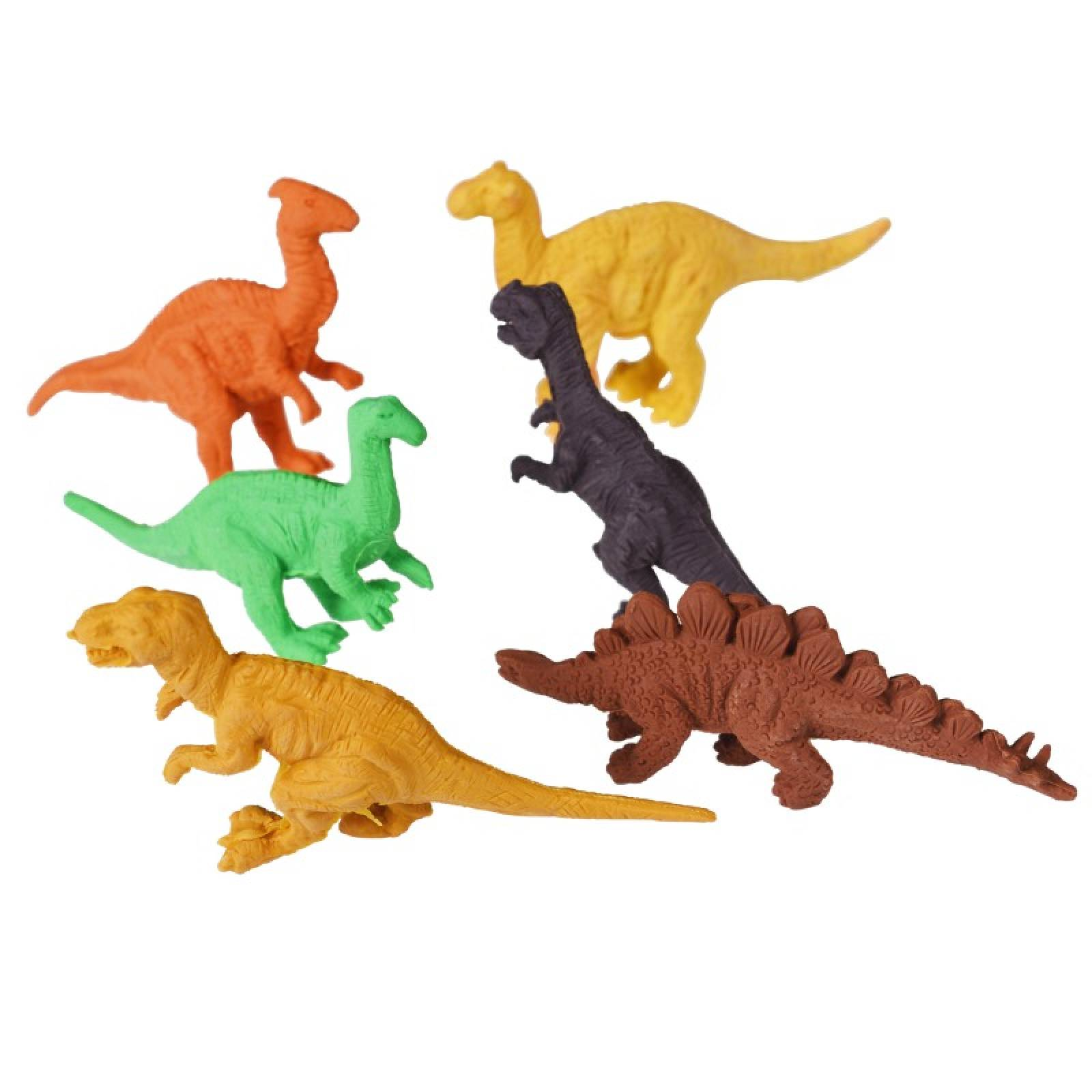 Set Of 6 Prehistoric Land Erasers