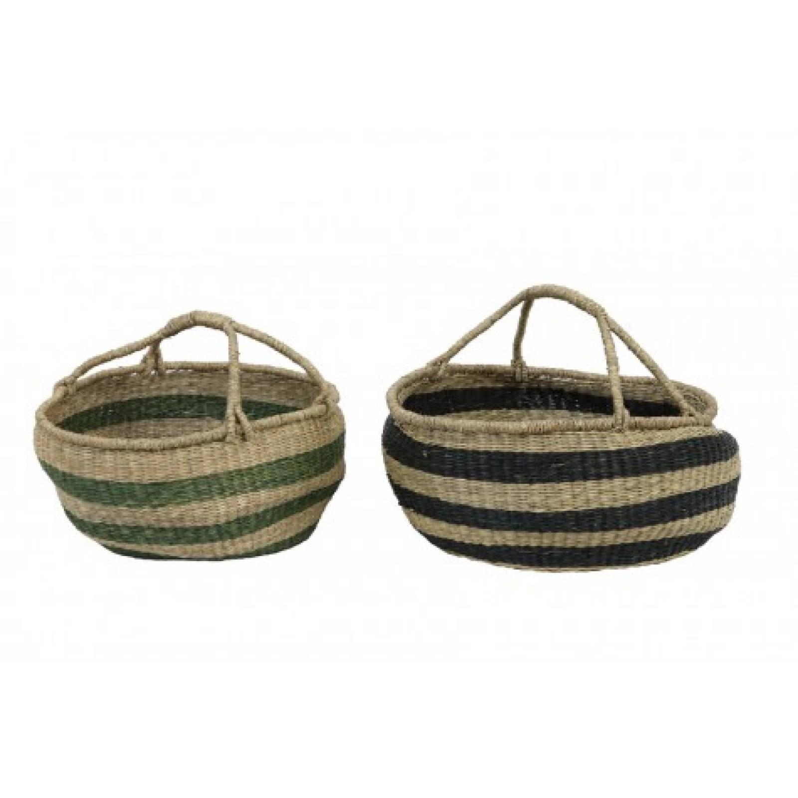 Afula Seagrass Basket Dark Green 60X26