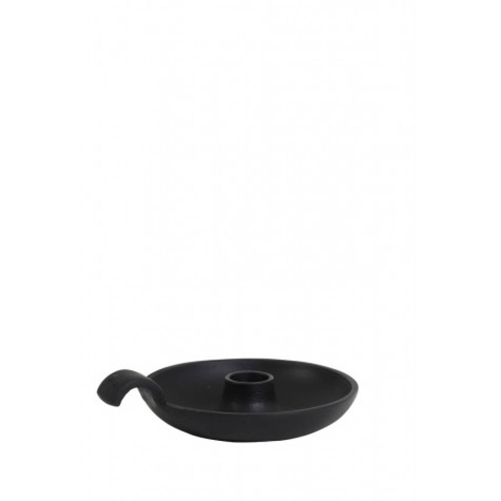 Metal Candleholder Dish With Handle