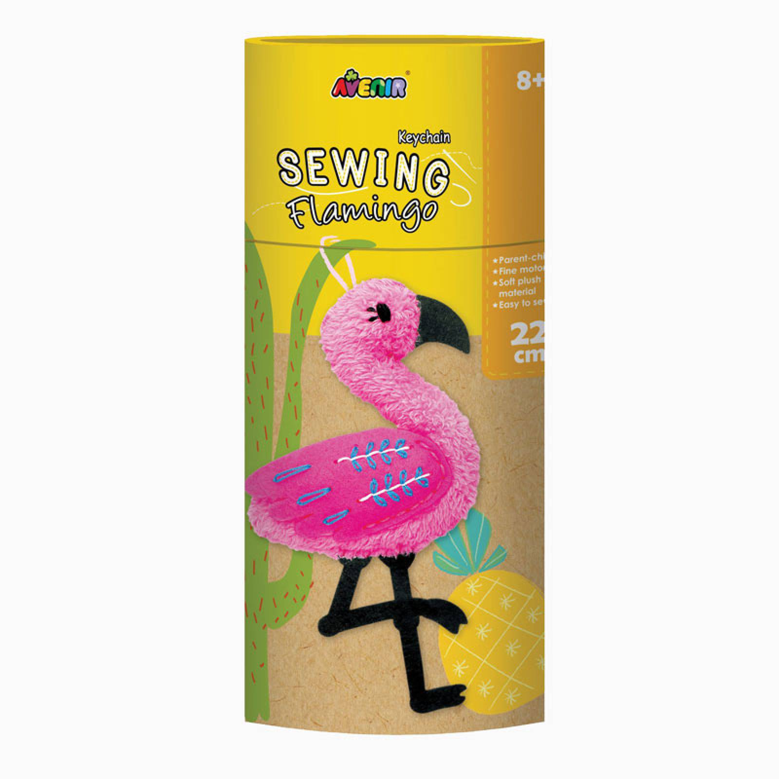 Keychain Sewing Kit - Flamingo 8+