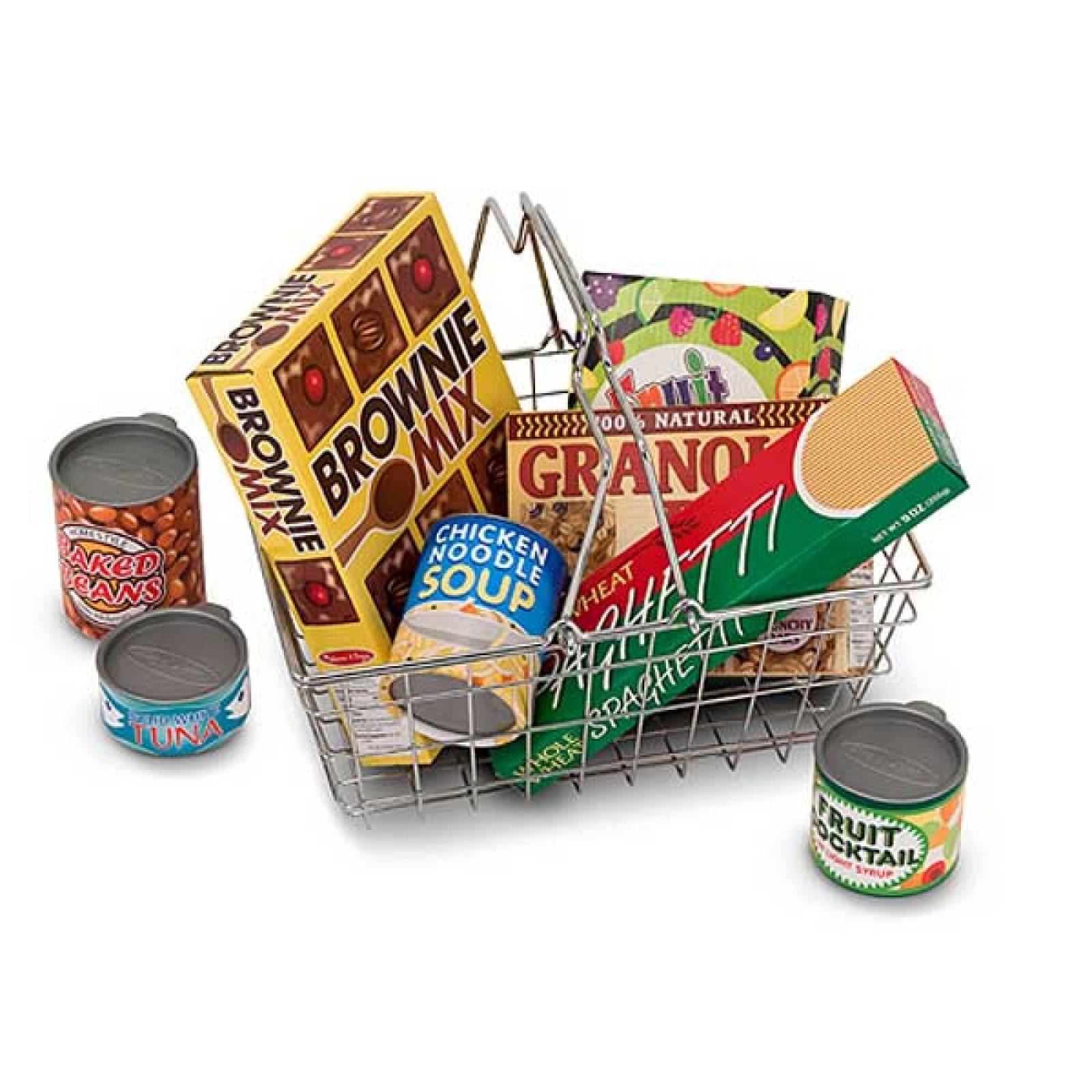 Shopping Basket With Play Food 3+