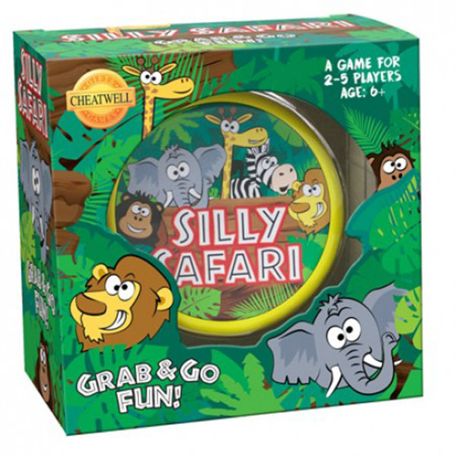 Silly Safari Card Game In Round Tin 6+