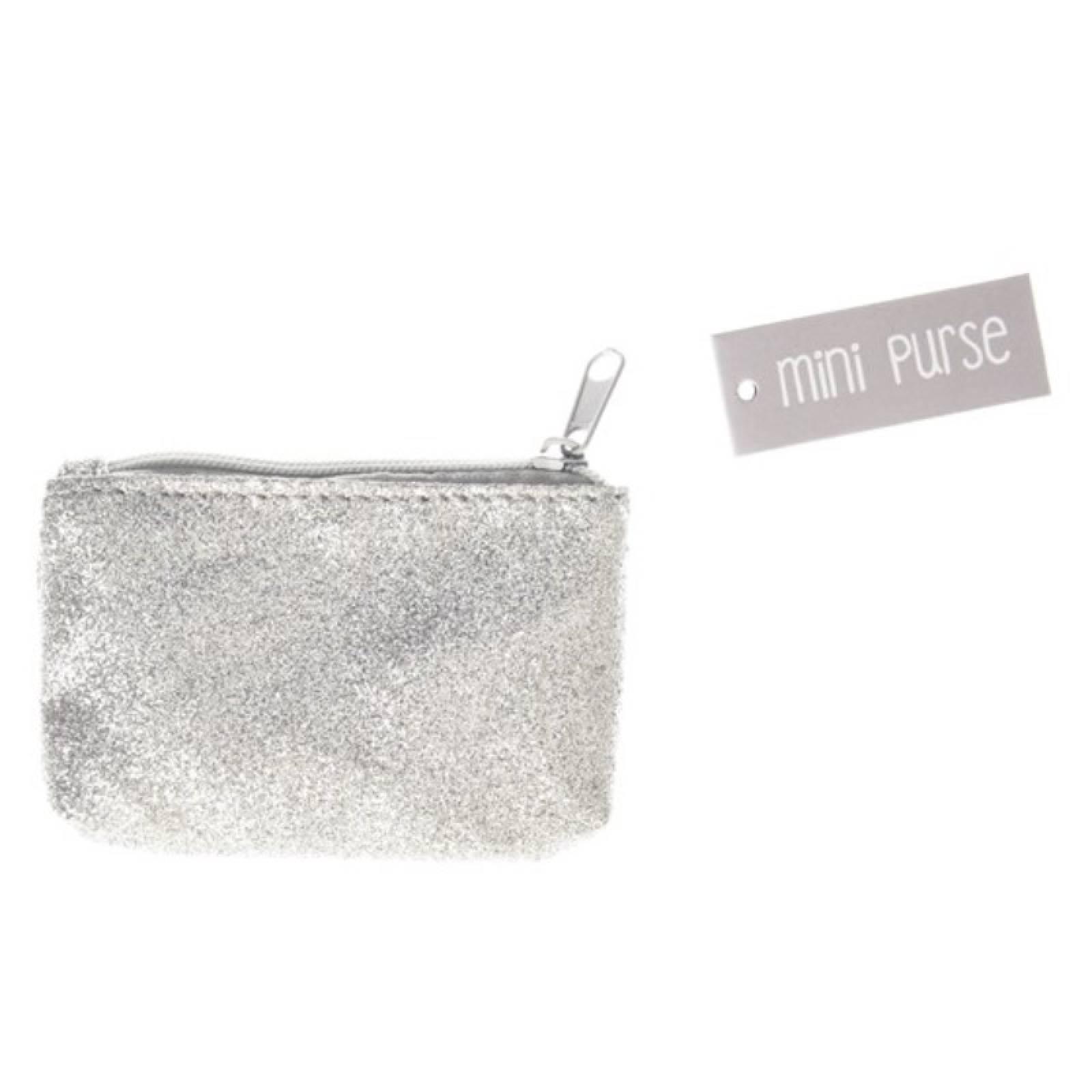 Silver Glitter Mini Purse