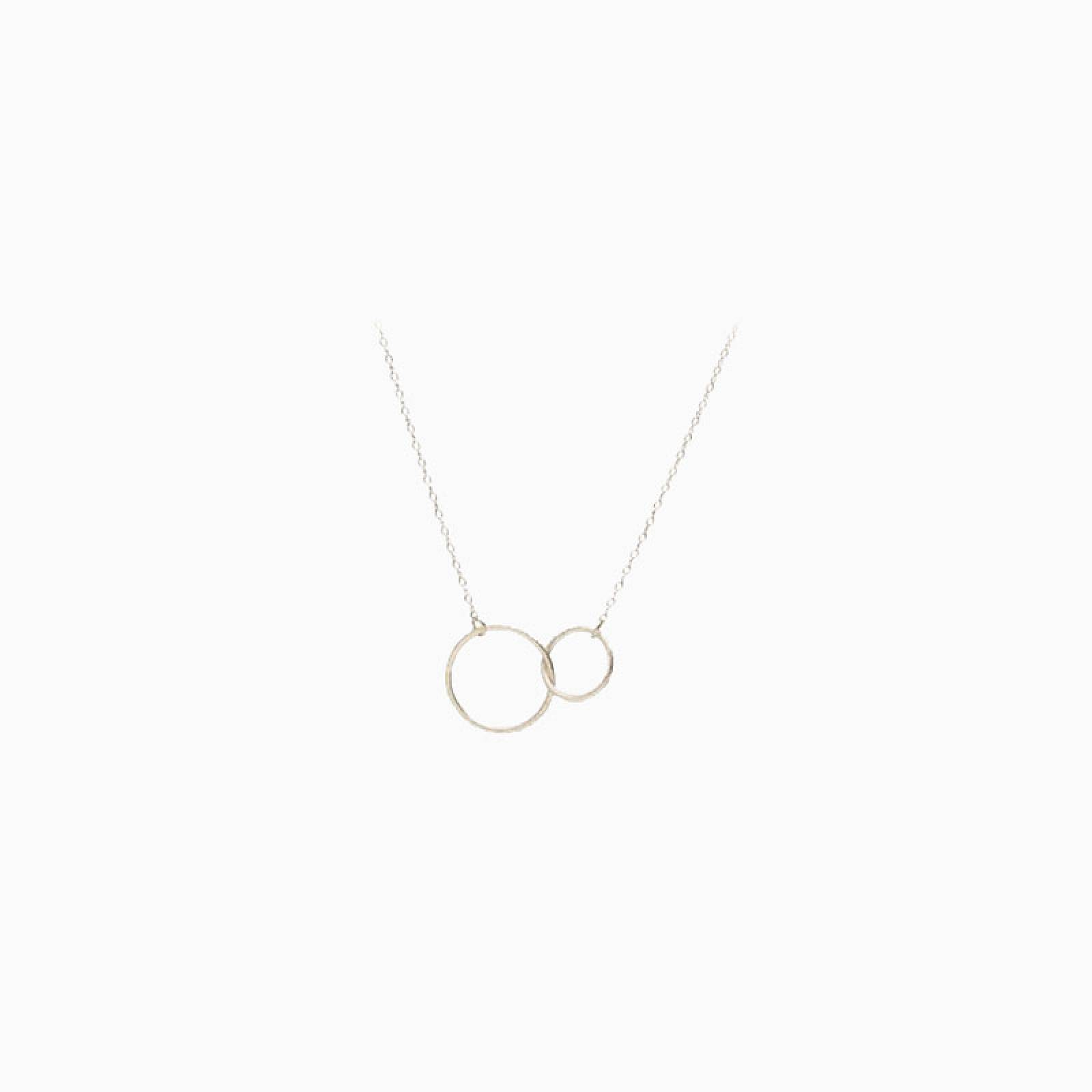 Silver Interlocking Hoop Necklace By Pernille Corydon thumbnails