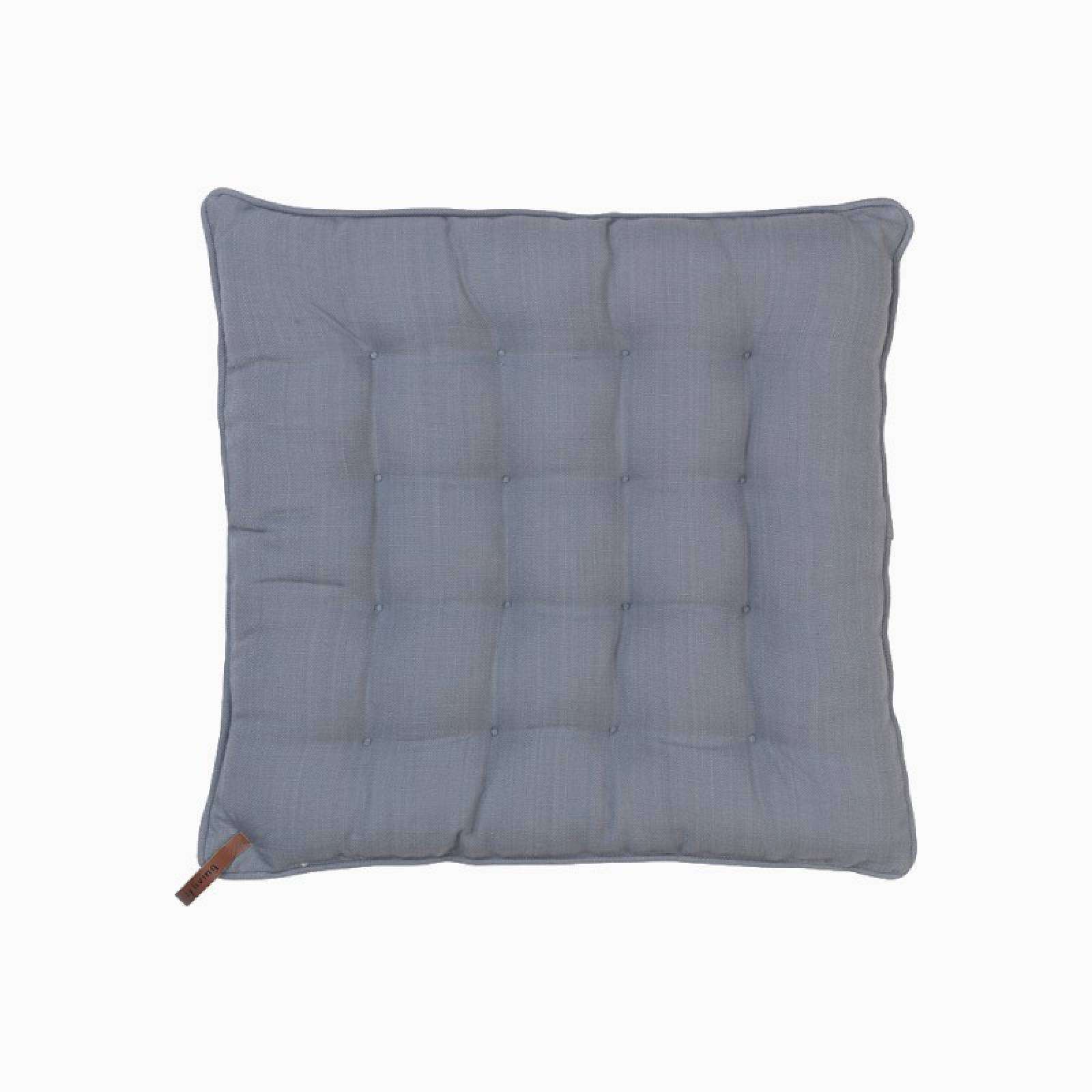 Simple Padded Seat Square Cushion In Flint Grey