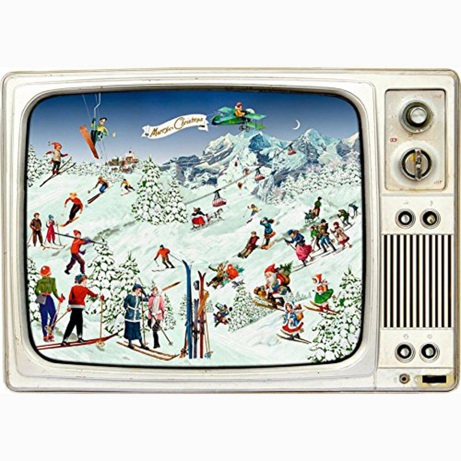 Skiing On The Retro TV Advent Calendar