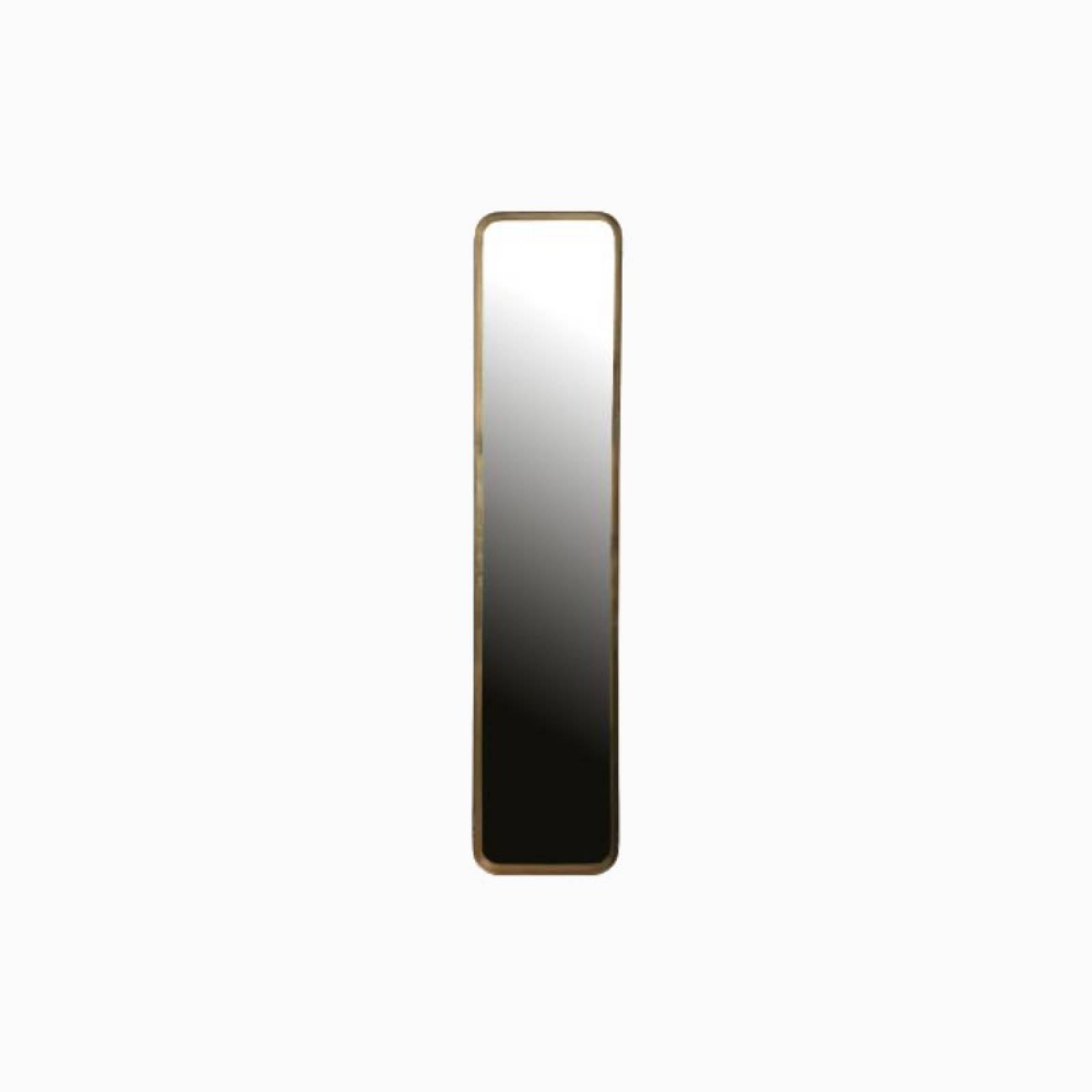 Slim Long Gold Rectangular Mirror L:145cm