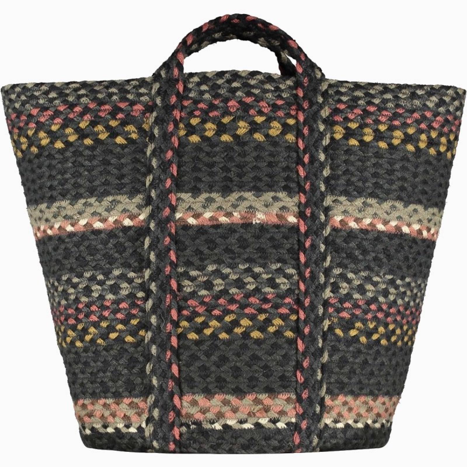 Slouchy Basket In Black Marble 42x47cm