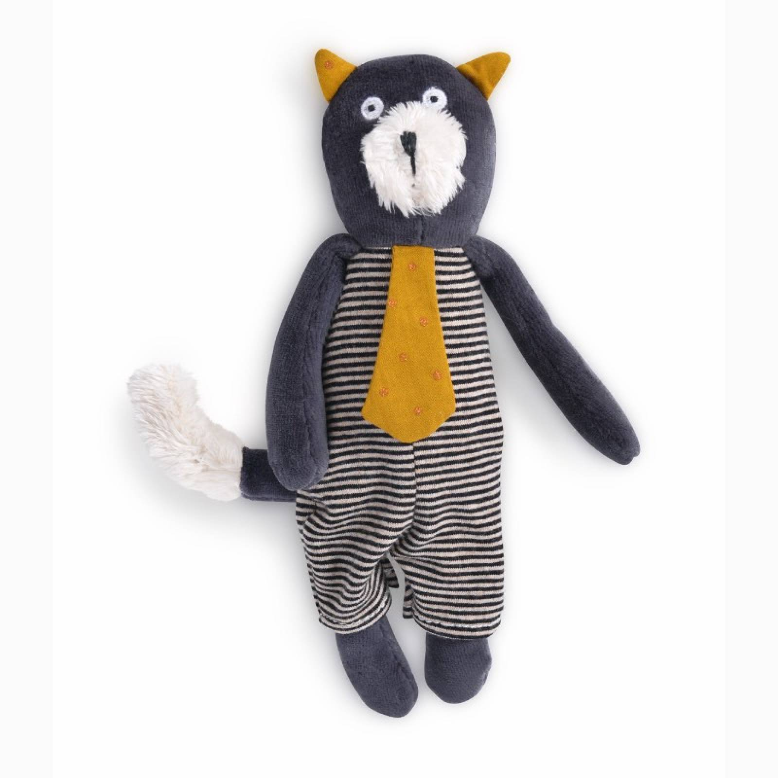 Small Alphonse The Grey Cat Soft Toy Les Moustaches 0+