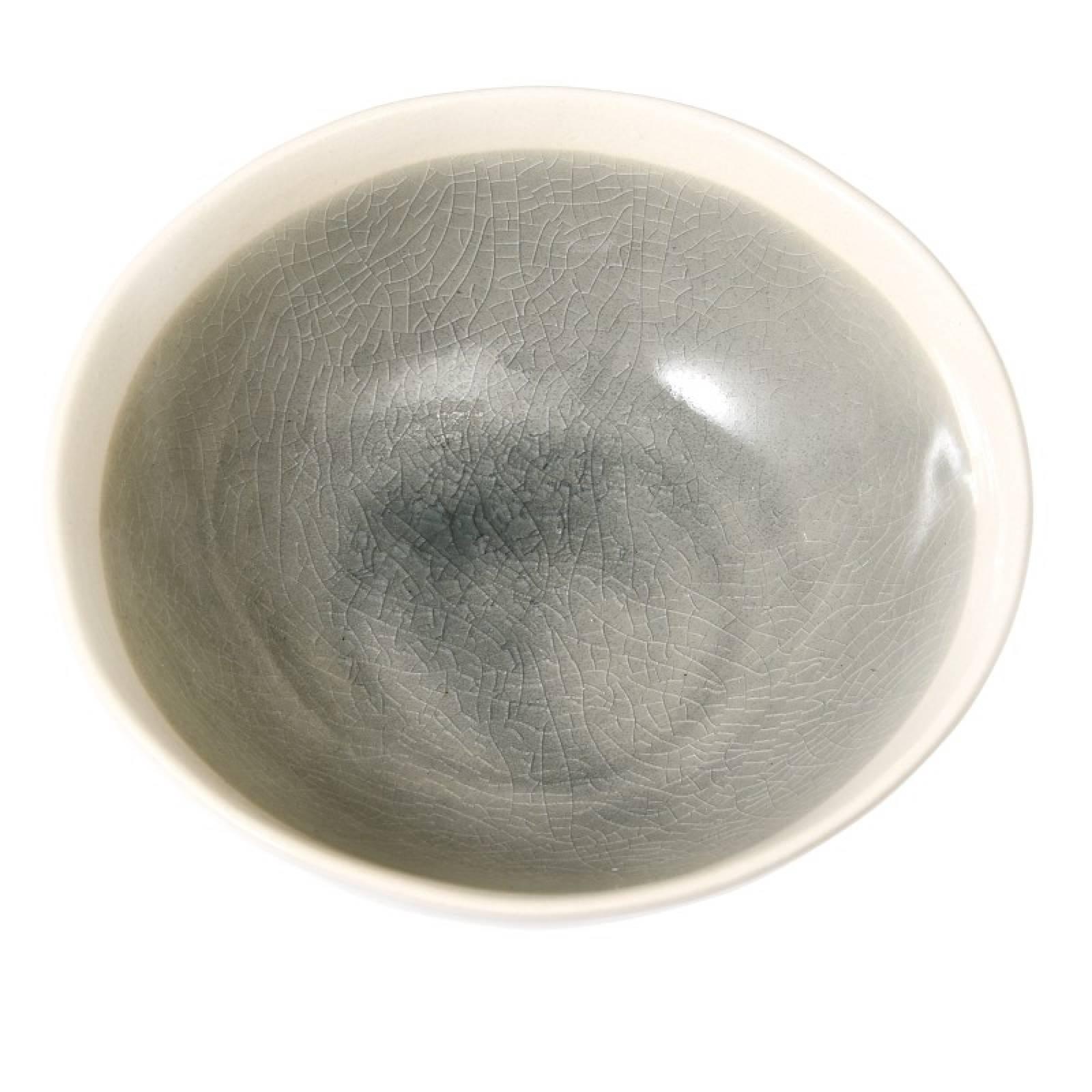 Small Glazed Mezze Bowl In Grey thumbnails