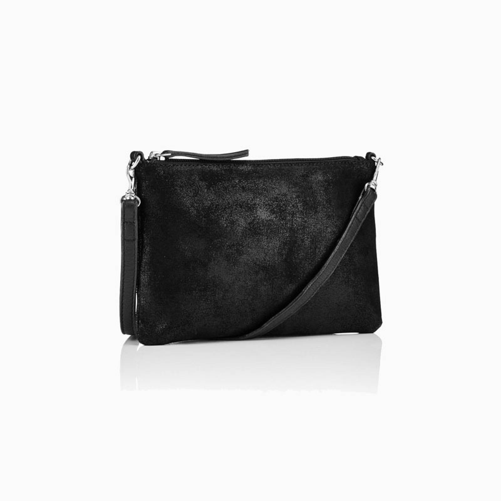 Small Leather Crossbody Bag In Black