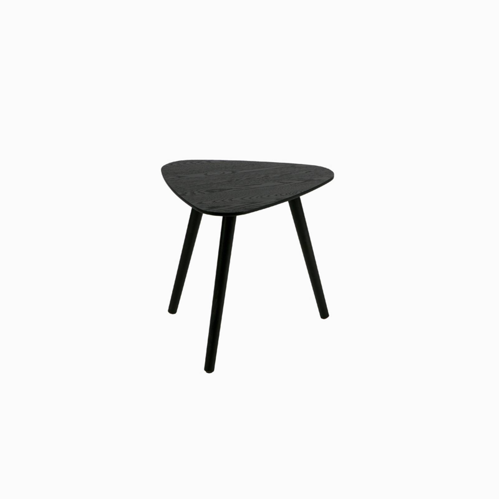 Small Lina Black Triangular Wooden Side Table