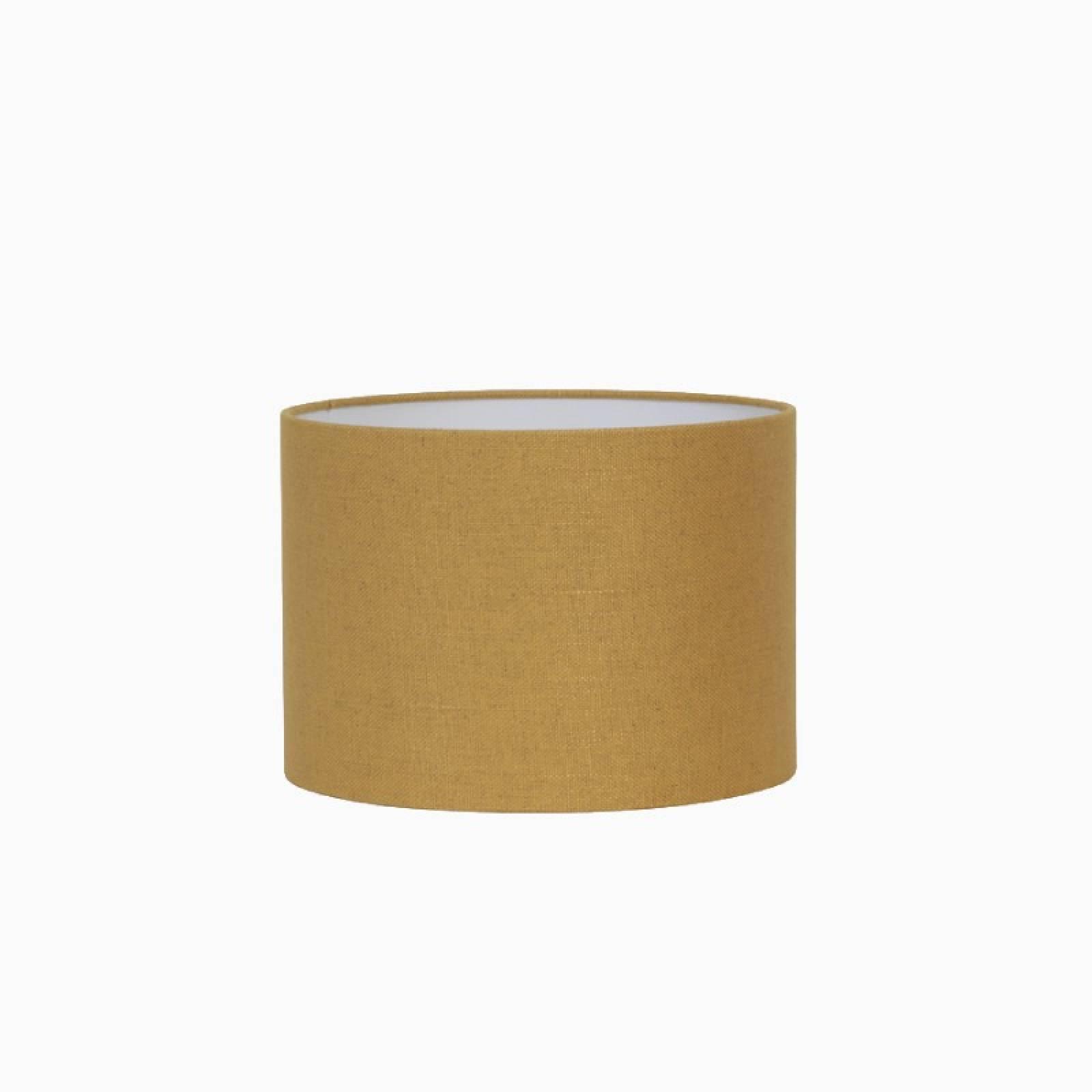 Small Linen Shade In Ochre Yellow 20cm