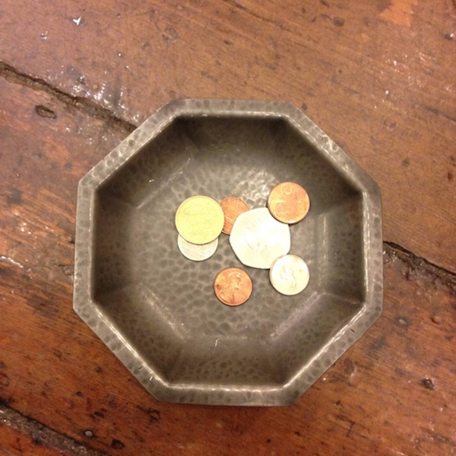 Small Octagonal Pewter Pedestal Dish thumbnails