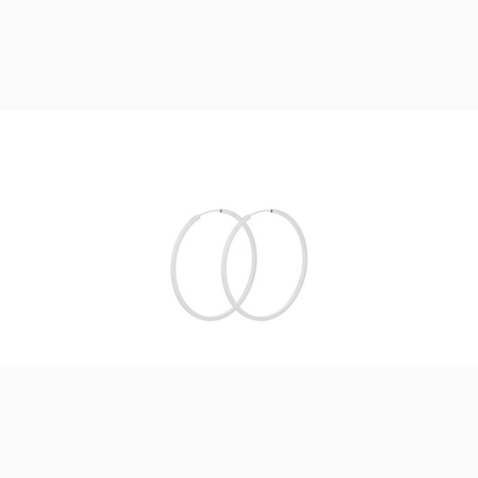 Small Orbit Hoop Earrings In Silver By Pernille Corydon