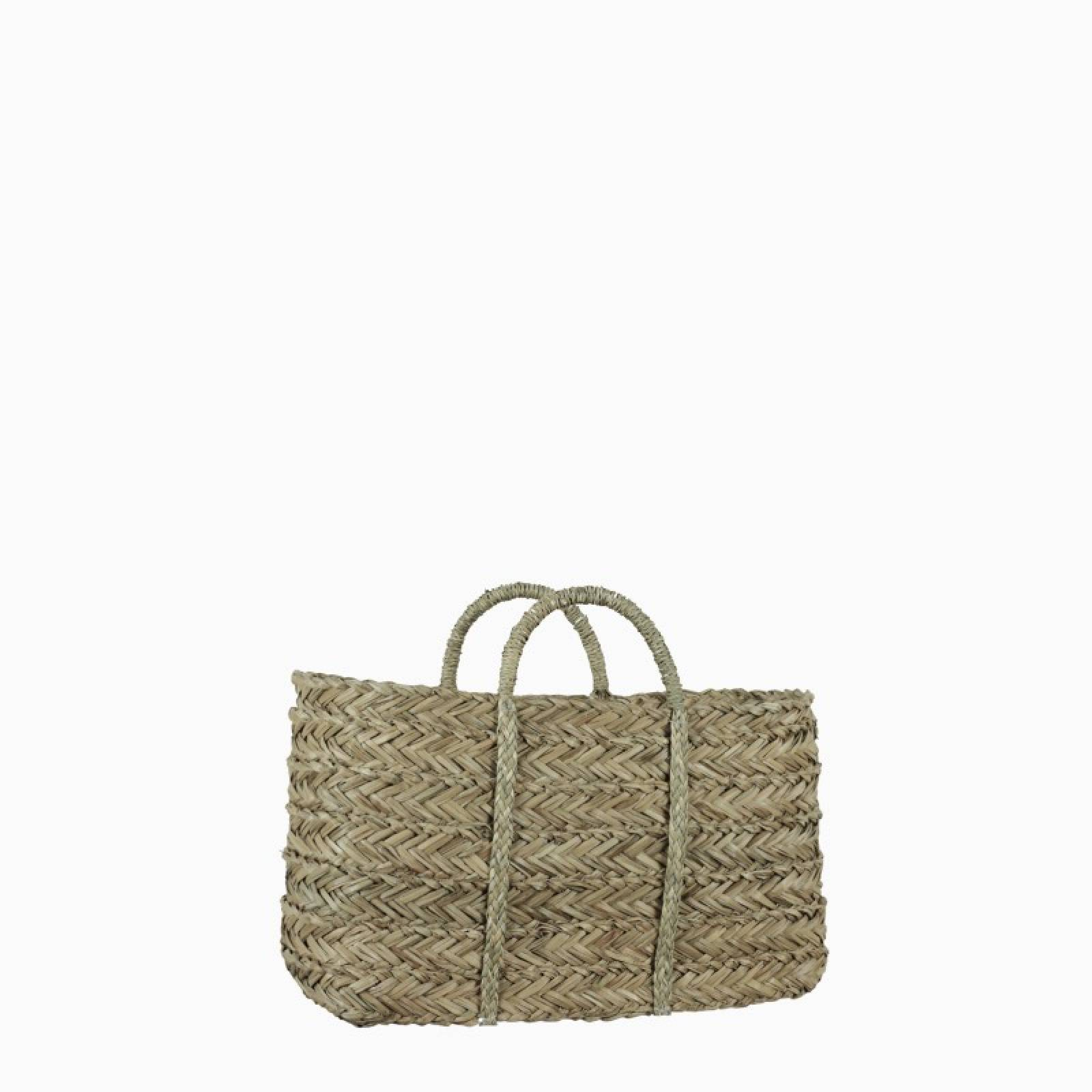 Small Plaited Seagrass Basket 42x17x25cm
