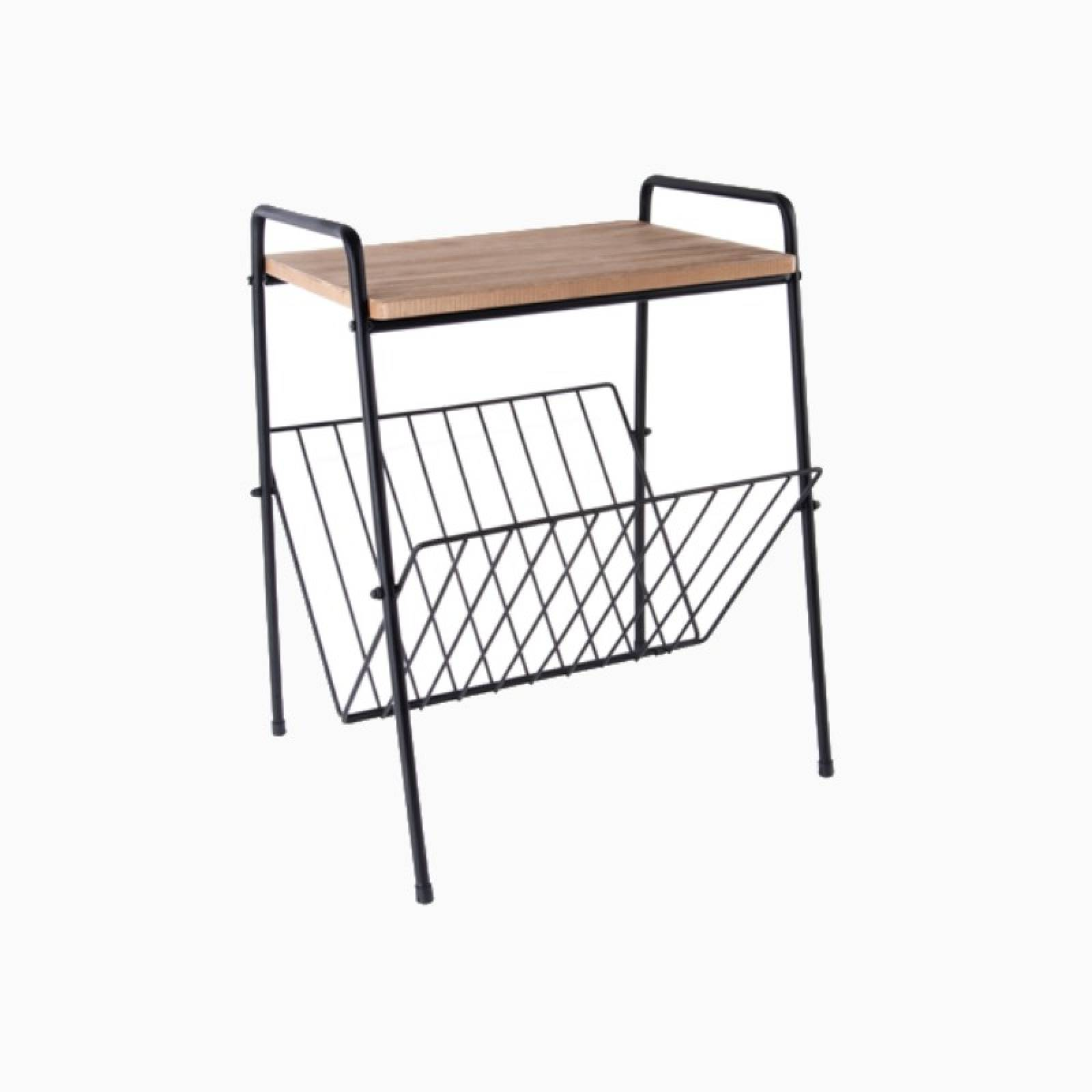 Small Side Table With Shelf And Rack PT thumbnails