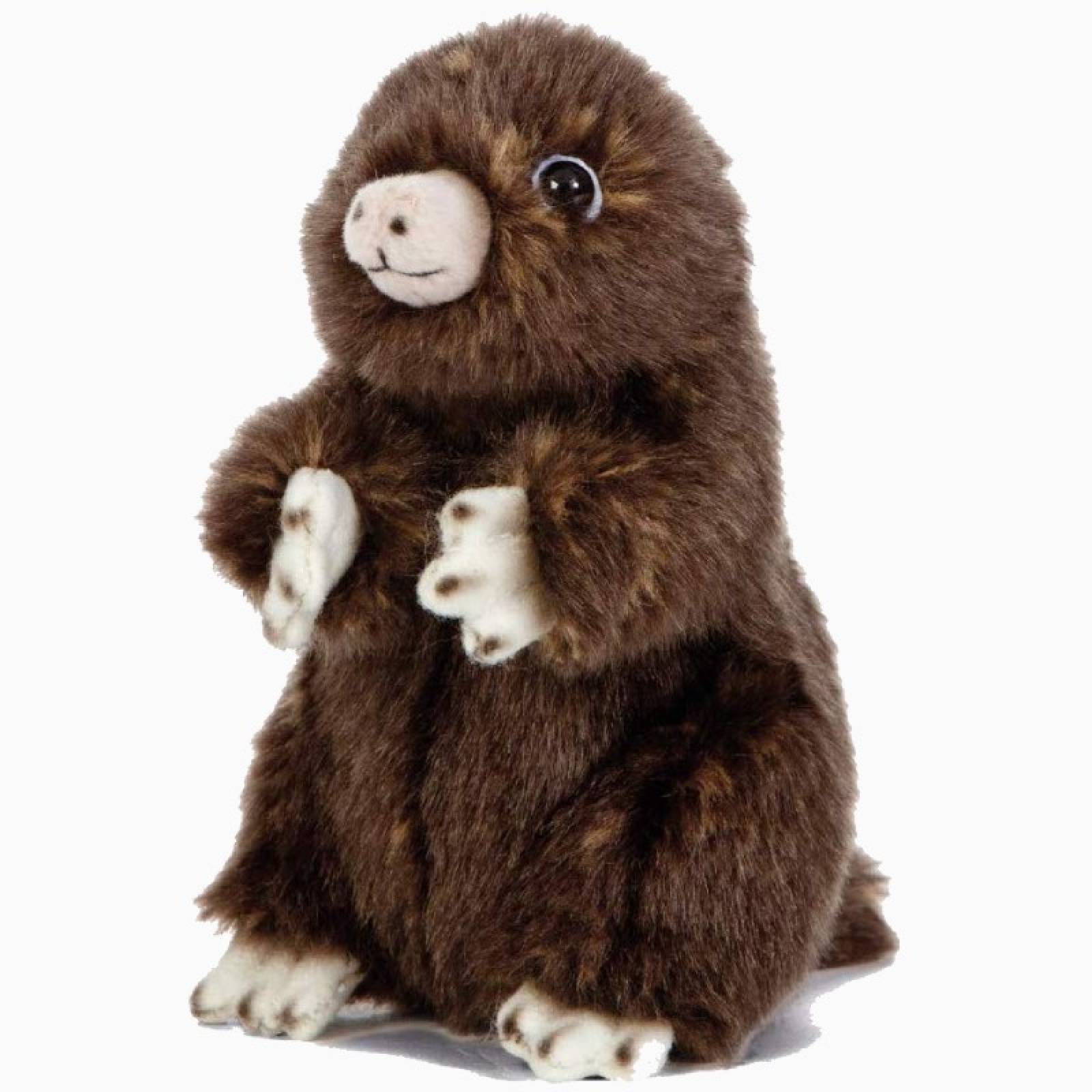 Small Sitting Mole Soft Toy 0+