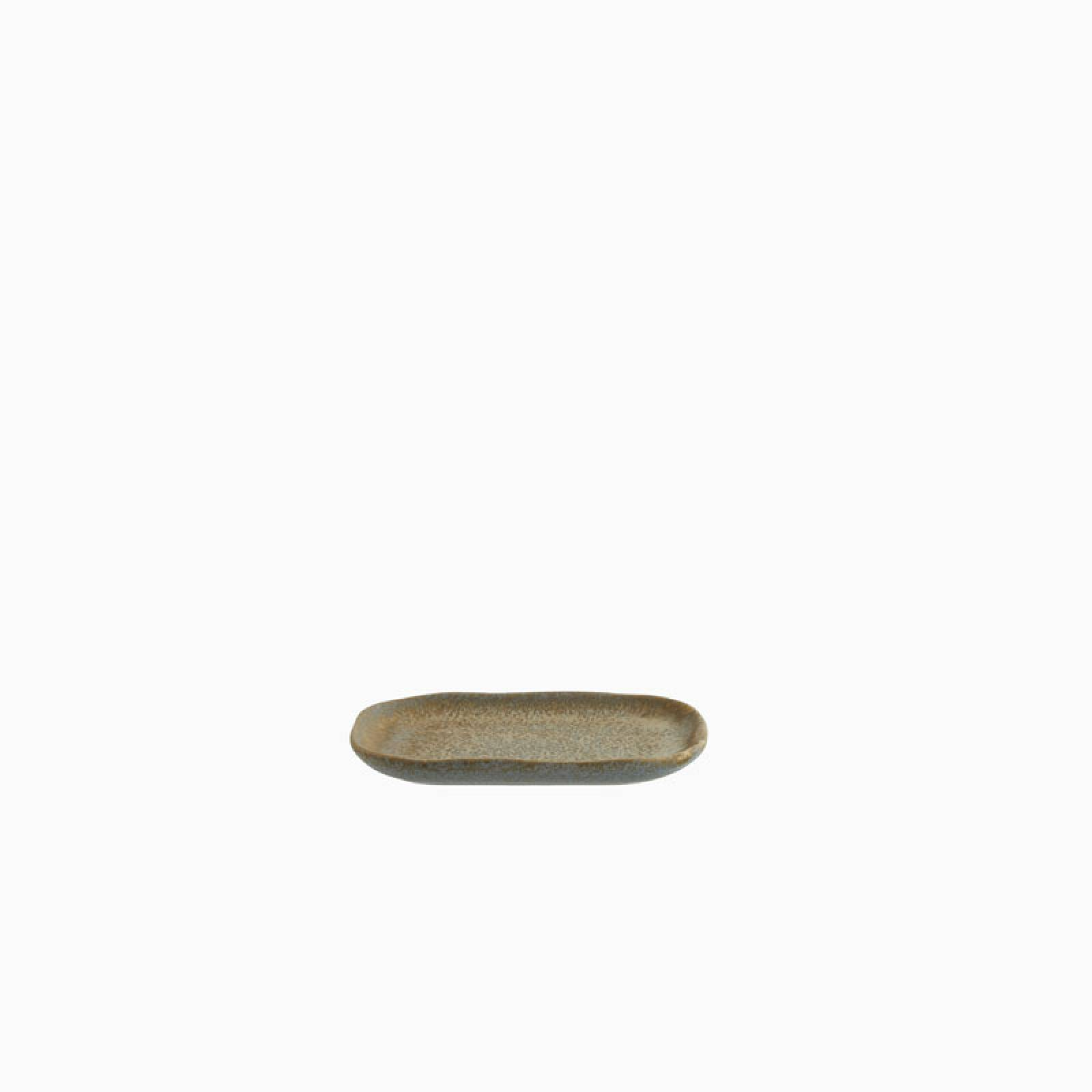 Small Stoneware Platter In Taupe