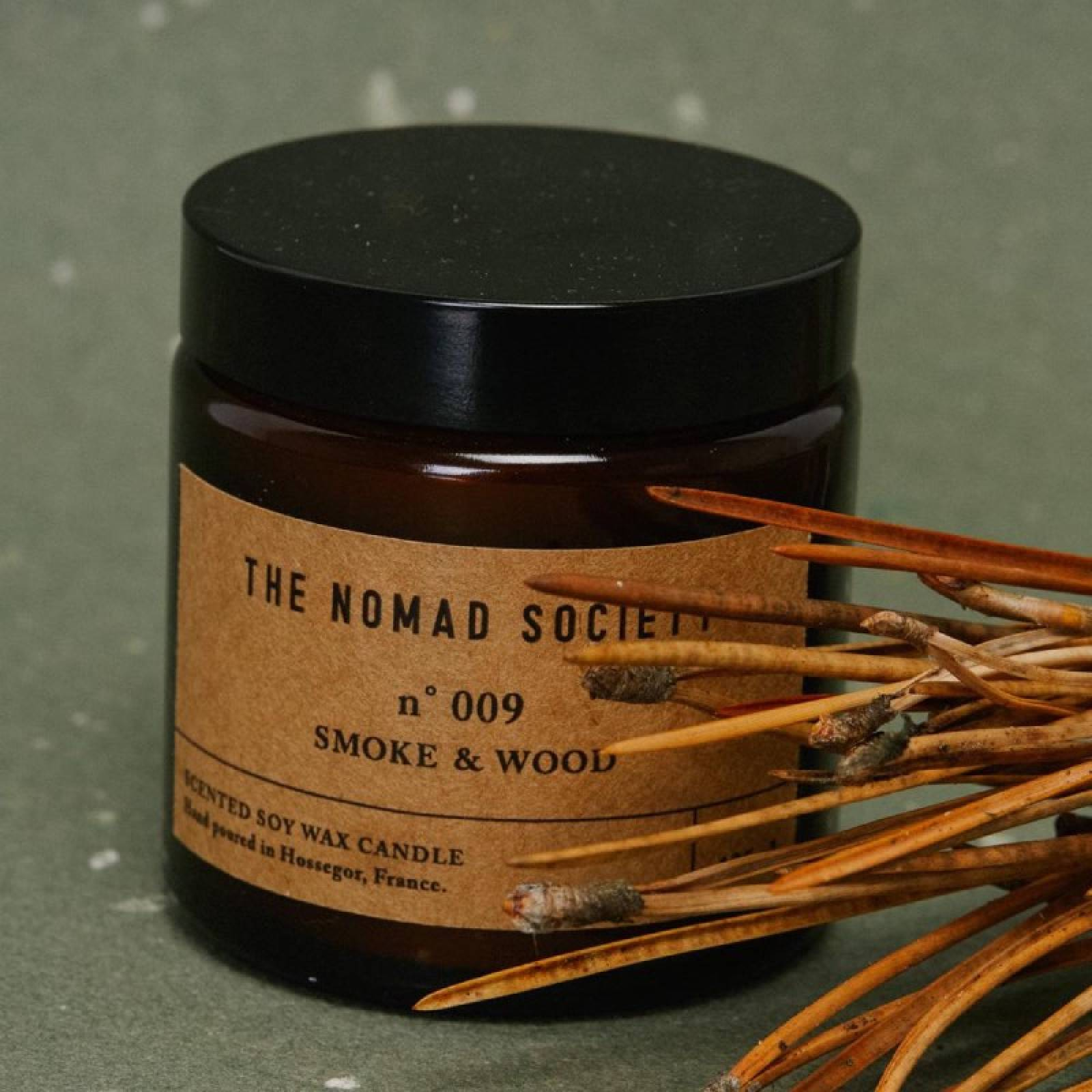 Smoke & Wood - Scented Soy Candle In Glass Jar 120ml thumbnails