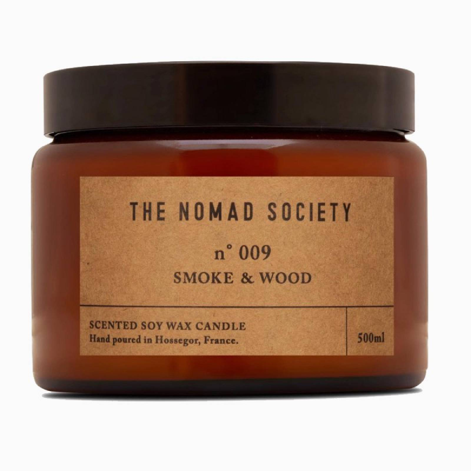 Smoke & Wood - Scented Soy Candle In Glass Jar 500ml