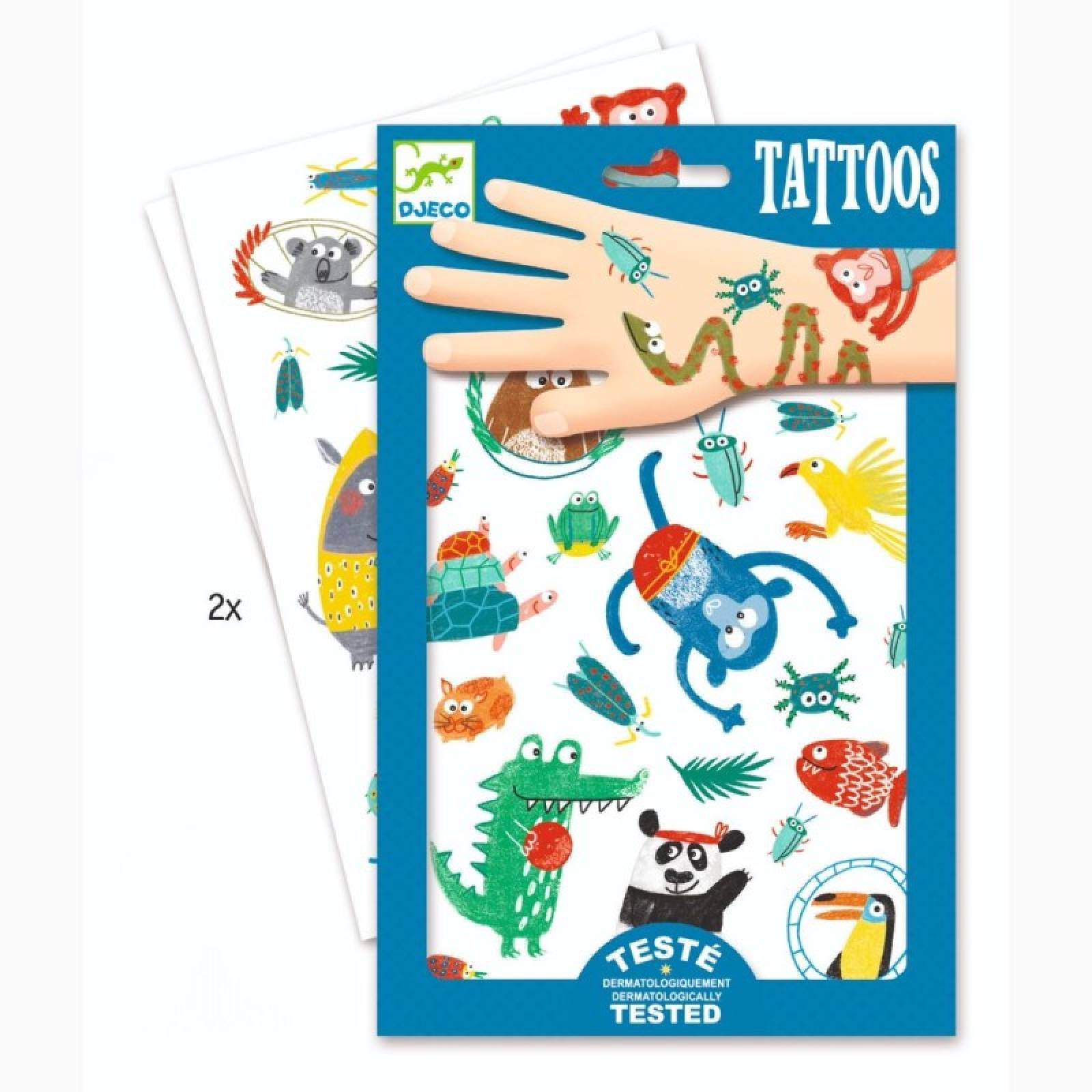 Snouts Temporary Tattoo Pack By Djeco 3+ thumbnails