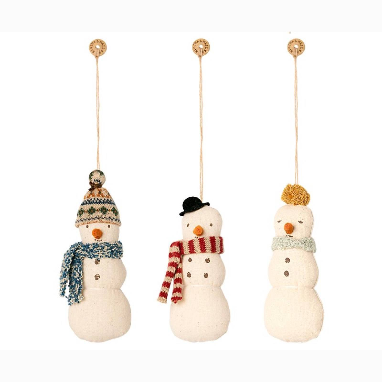 Soft Snowman Fabric Hanging Christmas Decoration By Maileg