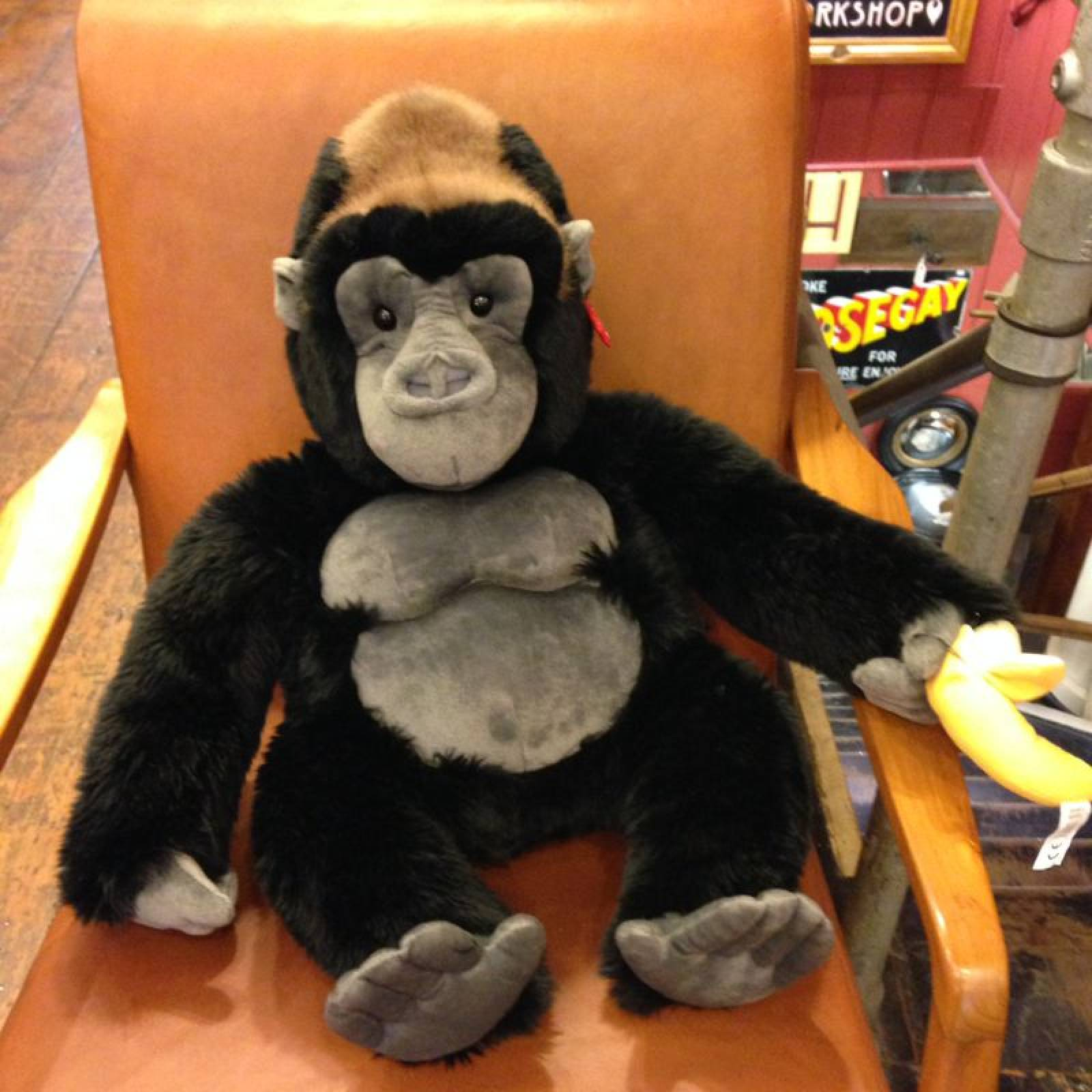Sitting Gorilla Silverback Soft Toy 45cm thumbnails