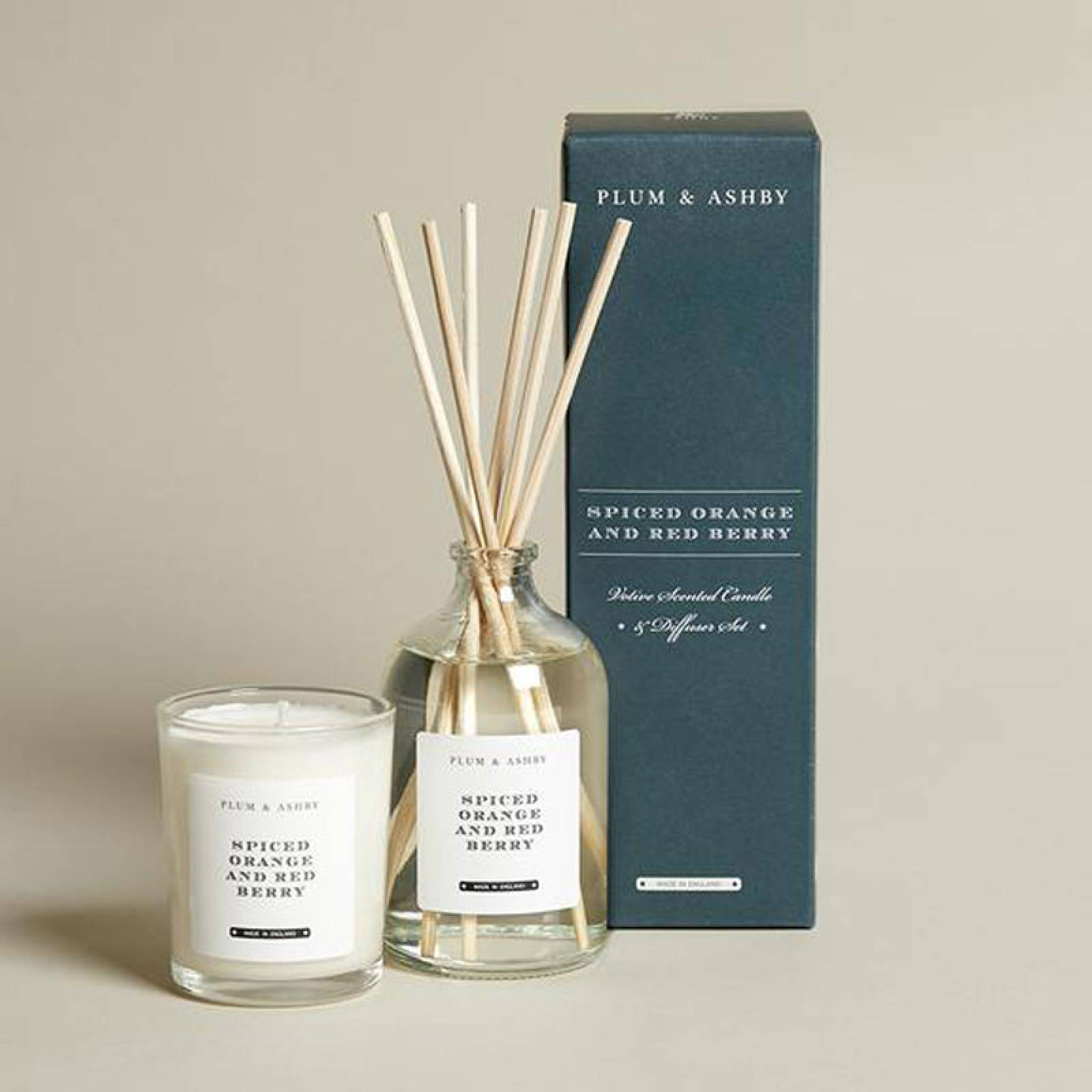 Spiced Orange & Red Berry Candle & Diffuser Gift Set thumbnails