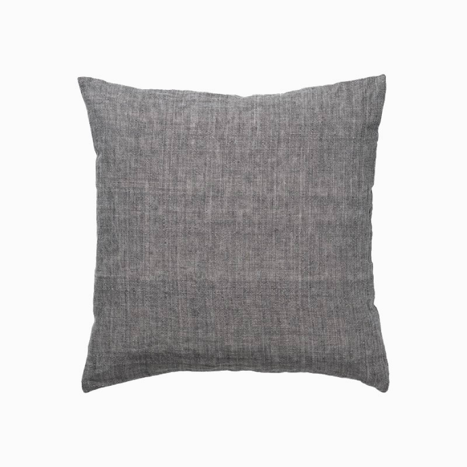 Square Linen Cushion In Mocca