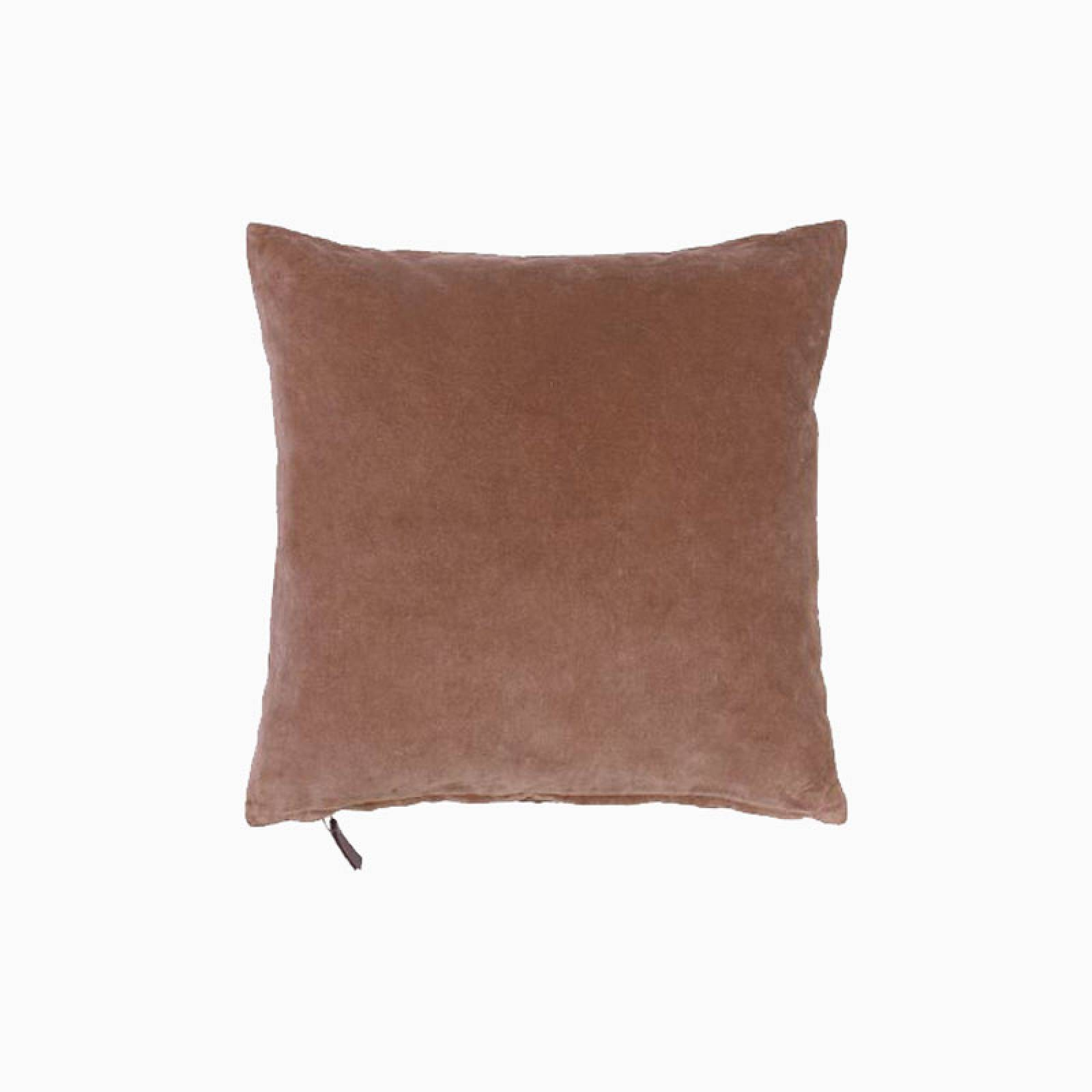 Square Mini Velvet Cushion In Rouge thumbnails