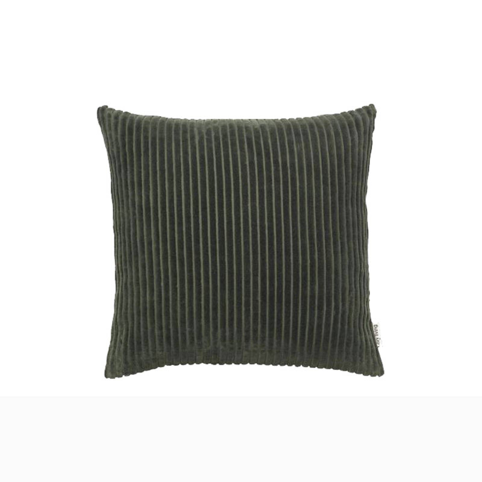 Square Soft Striped Cushion In Army