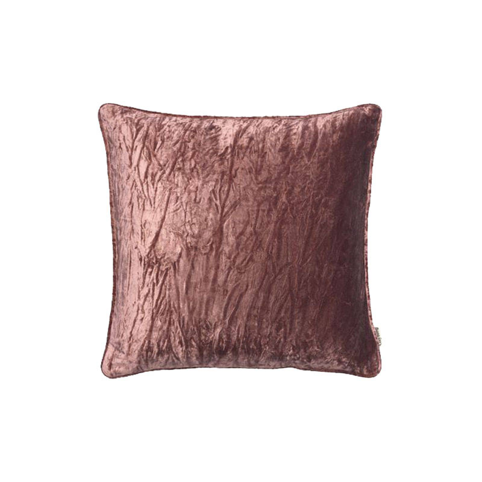 Square Velvet Cushion With Piping In Rust thumbnails