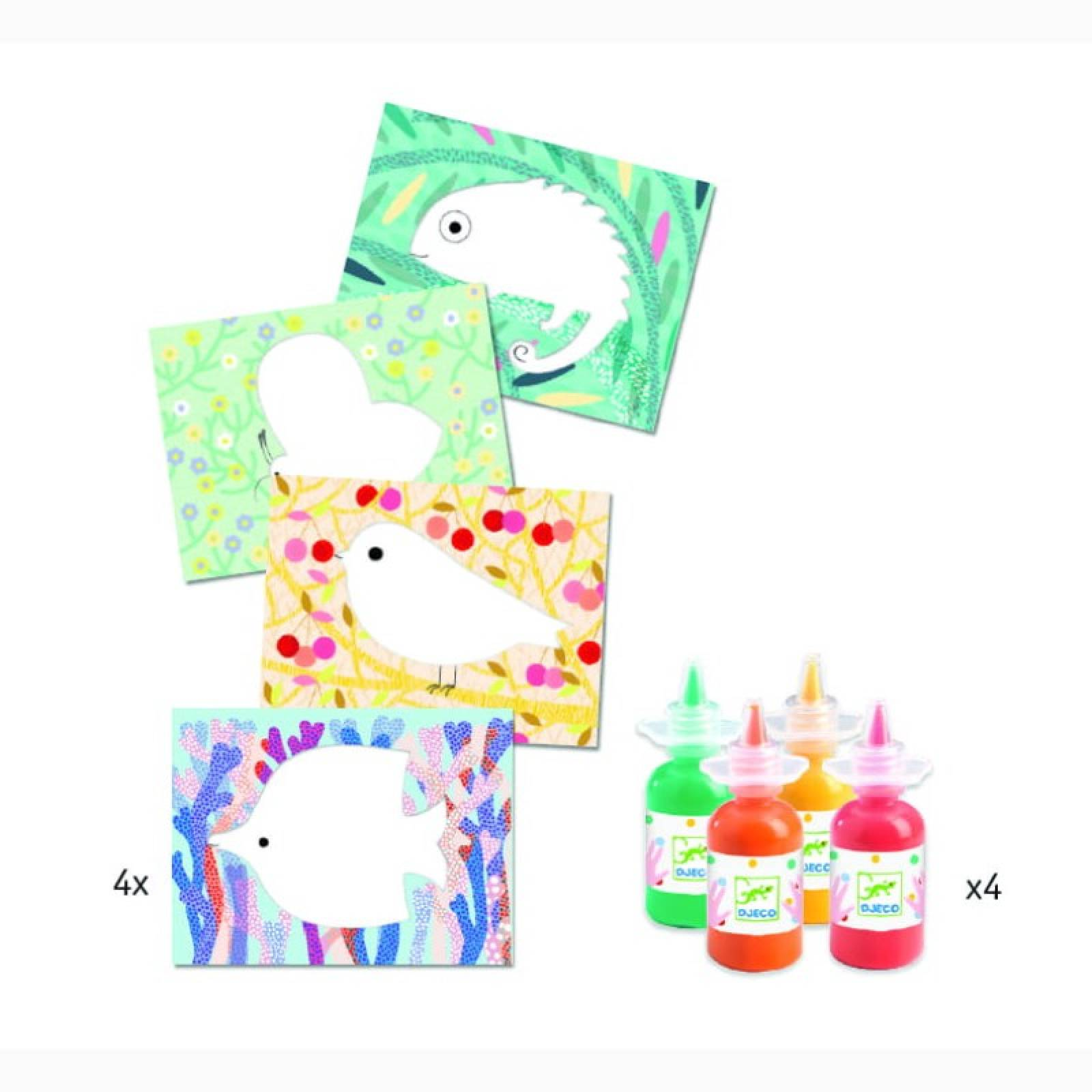 Squirt & Spread Easy Clean Painting Set By Djeco 18m+ thumbnails