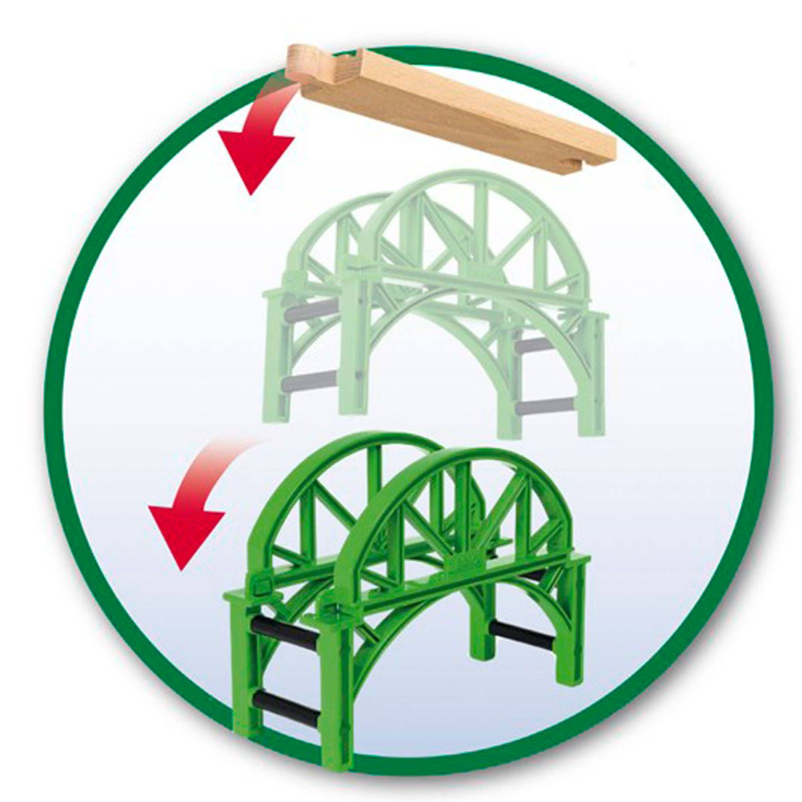 Stackable Bridge BRIO Wooden Railway Age 3+ thumbnails