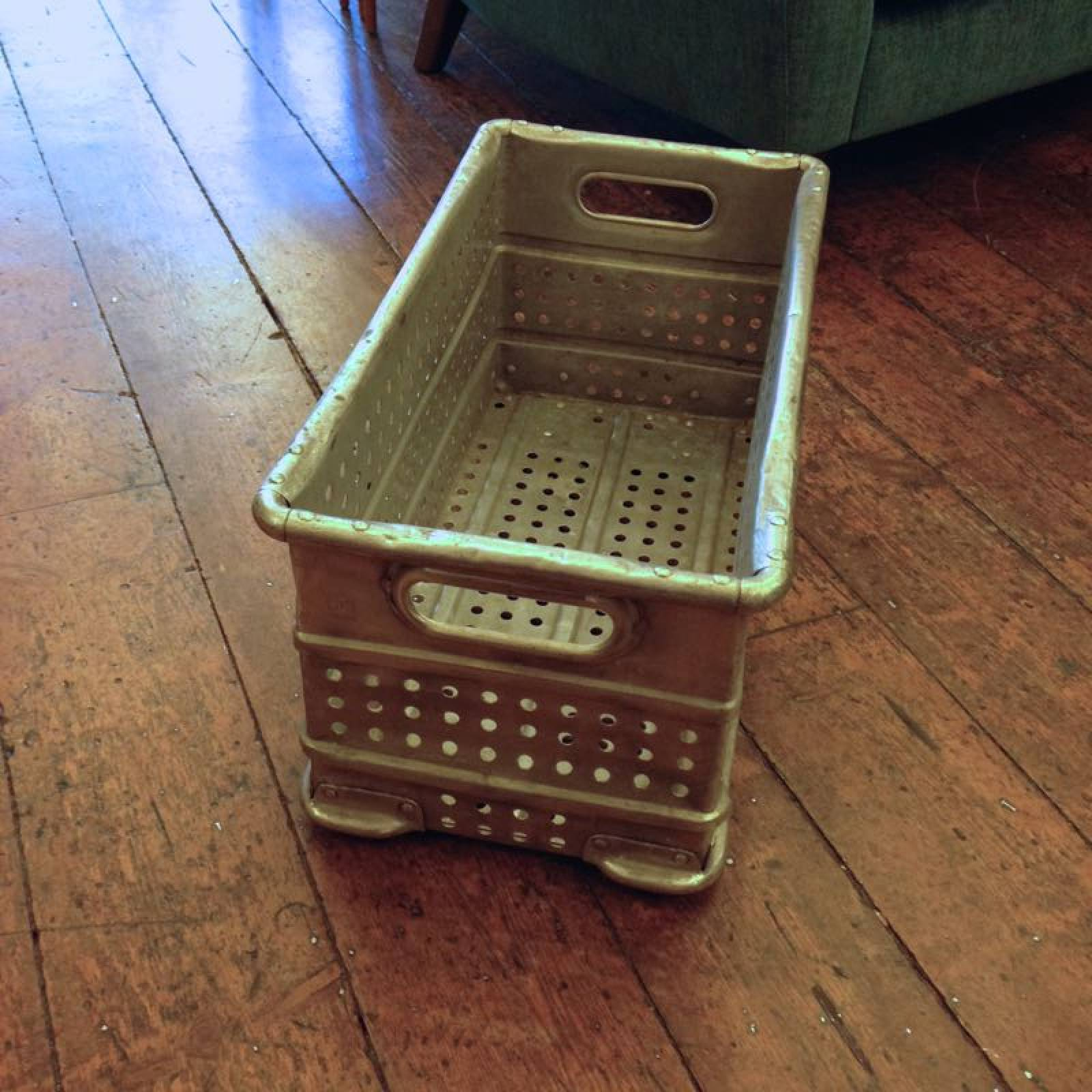Aluminium Polished Crate with perforated sides from hospital thumbnails