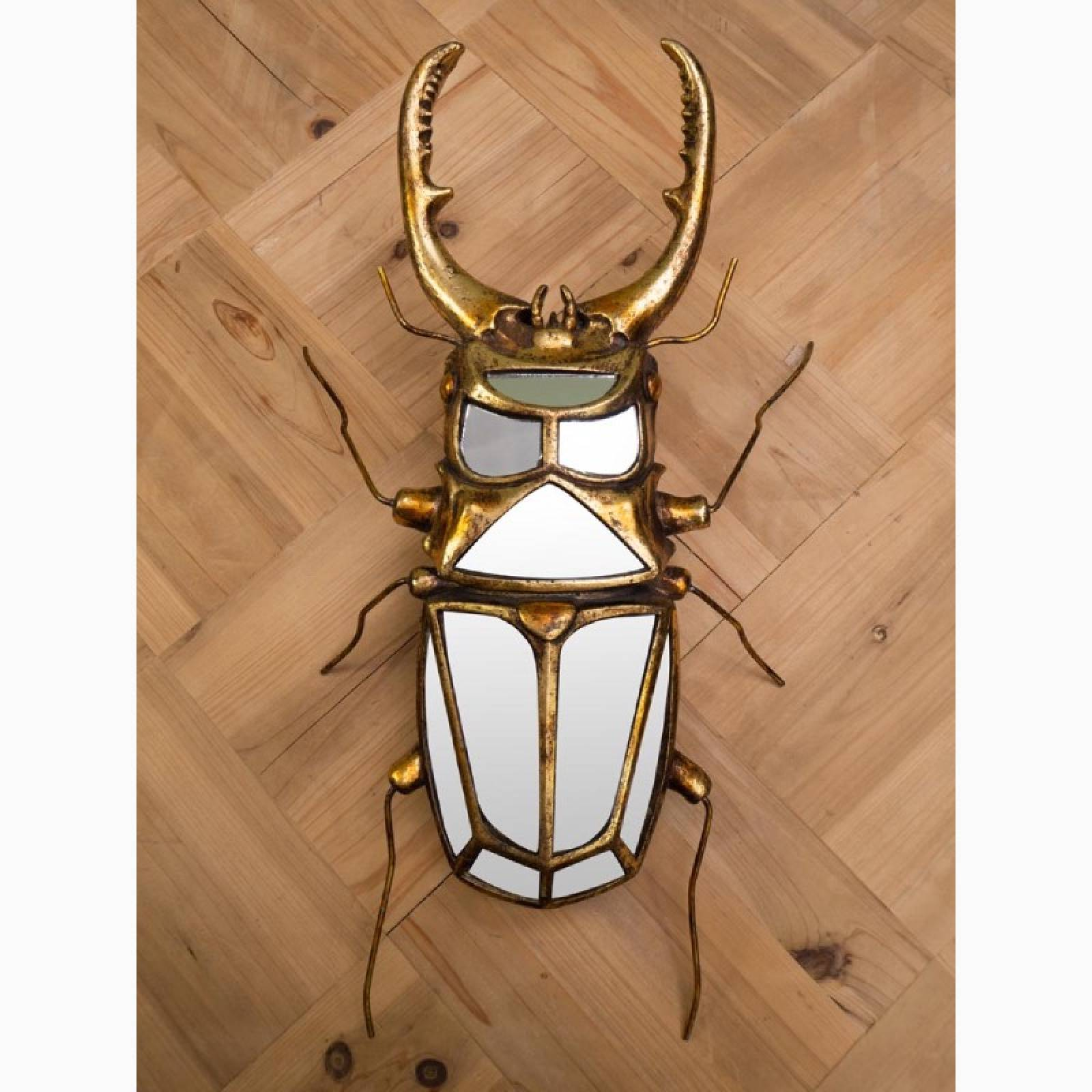 Stag Beetle Mirrored Wall Decoration thumbnails