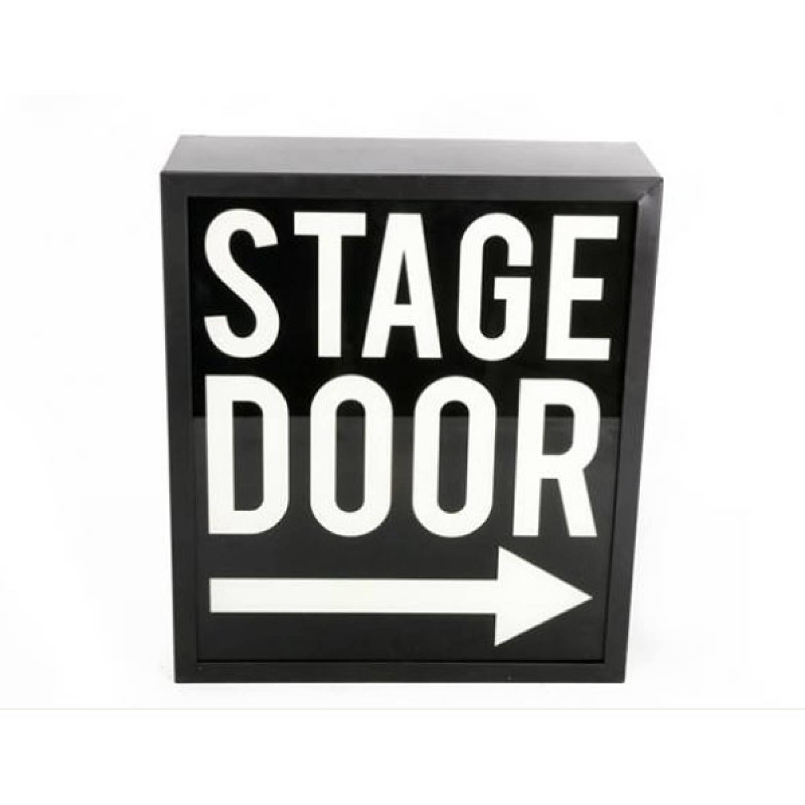 Stage Door Illuminated Sign Wall Mount Box Sign.