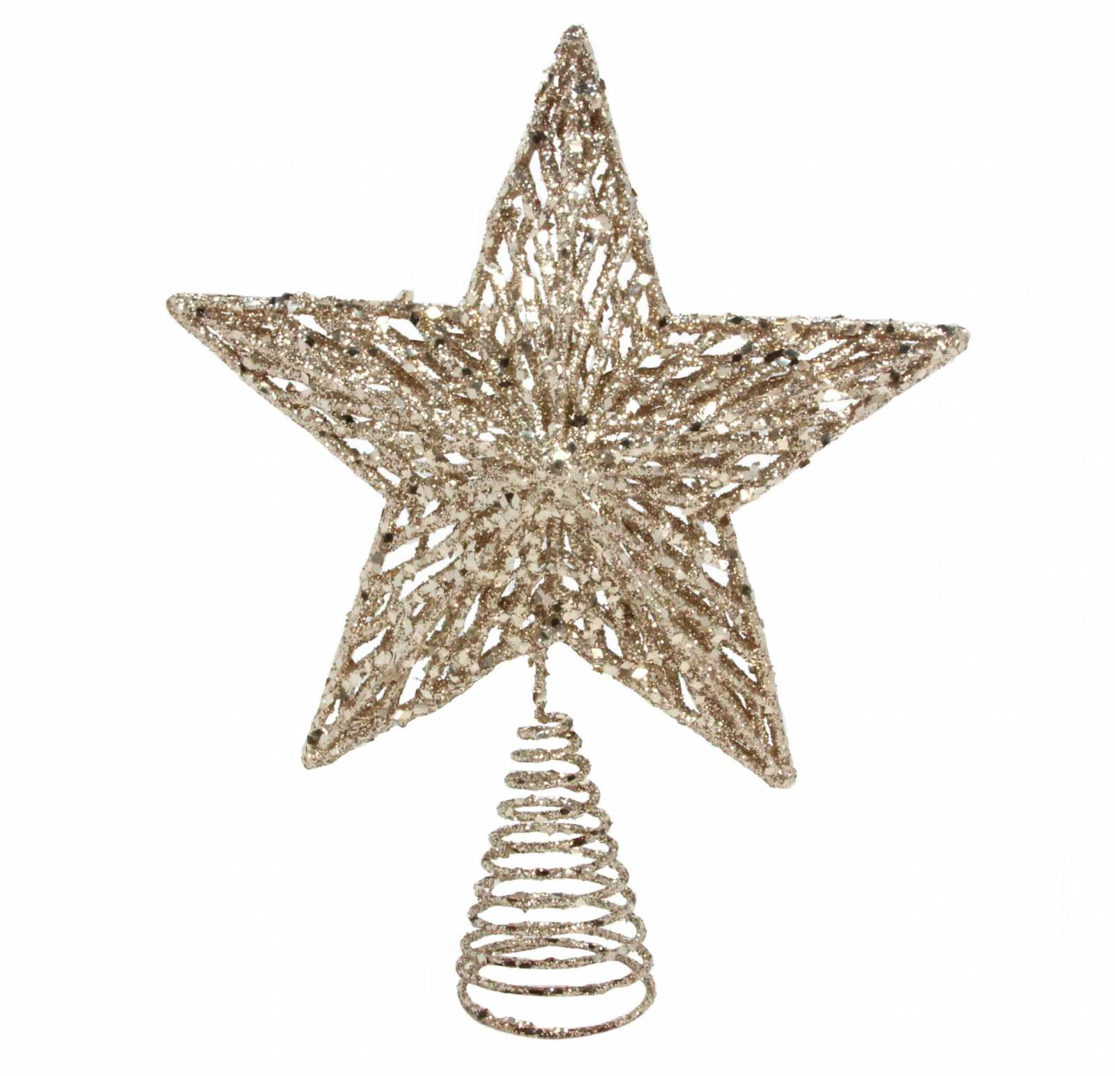 Large Gold Glitter Star Tree Topper Decoration